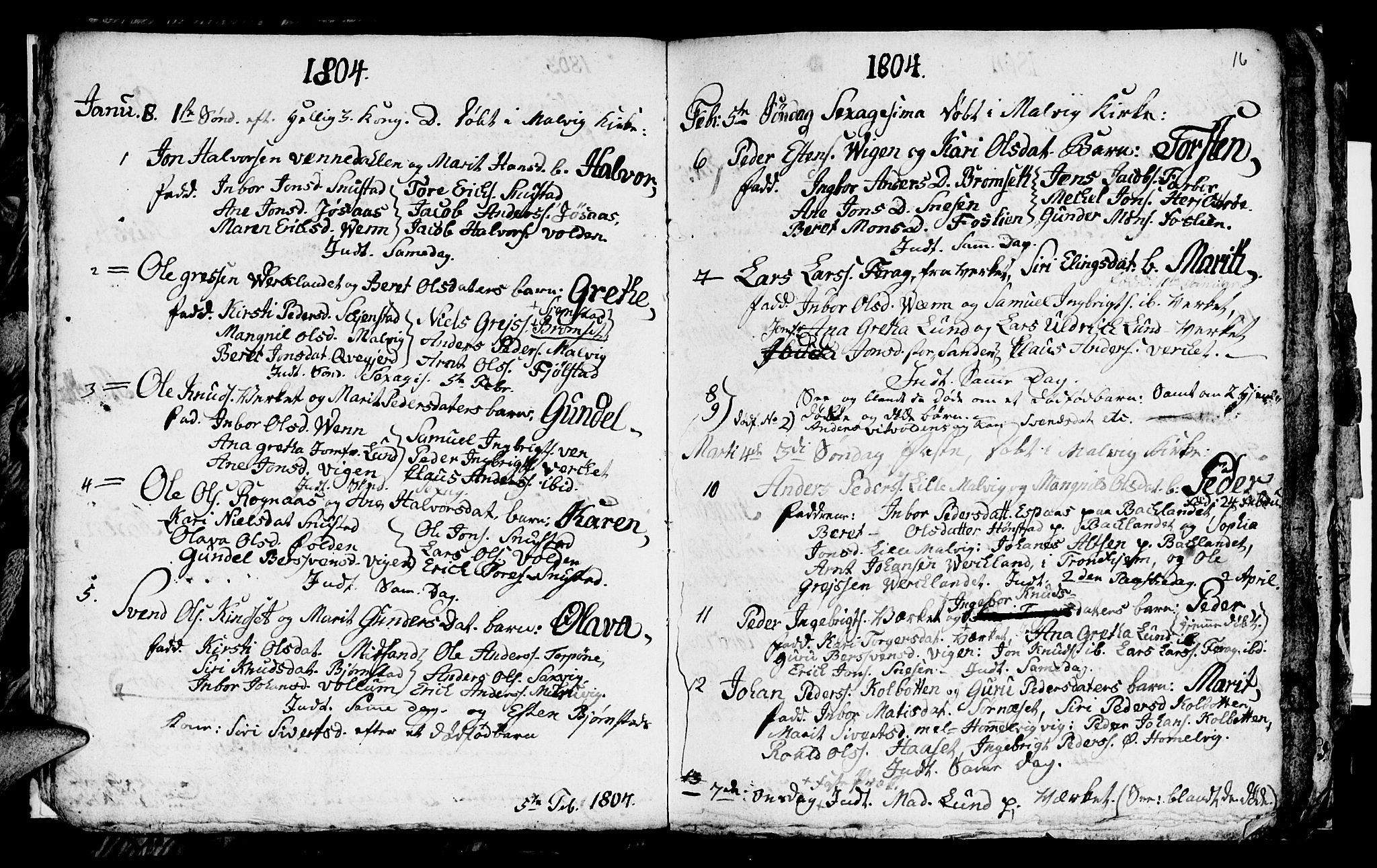 SAT, Ministerialprotokoller, klokkerbøker og fødselsregistre - Sør-Trøndelag, 616/L0419: Klokkerbok nr. 616C02, 1797-1816, s. 16