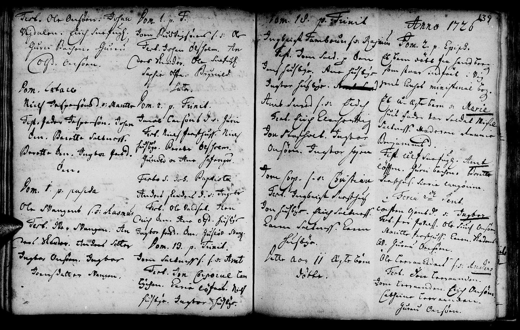 SAT, Ministerialprotokoller, klokkerbøker og fødselsregistre - Sør-Trøndelag, 666/L0783: Ministerialbok nr. 666A01, 1702-1753, s. 139