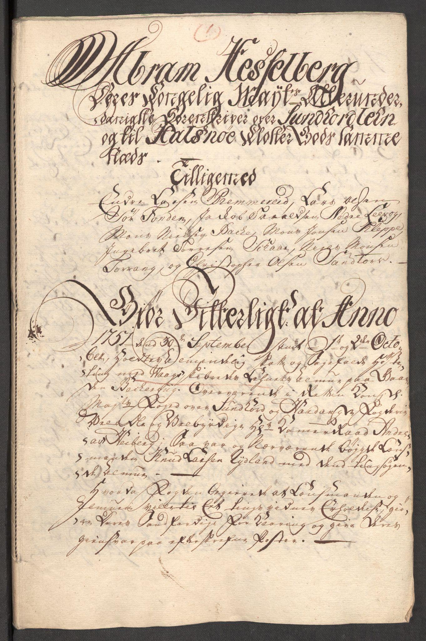 RA, Rentekammeret inntil 1814, Reviderte regnskaper, Fogderegnskap, R48/L3056: Fogderegnskap Sunnhordland og Hardanger, 1751, s. 100