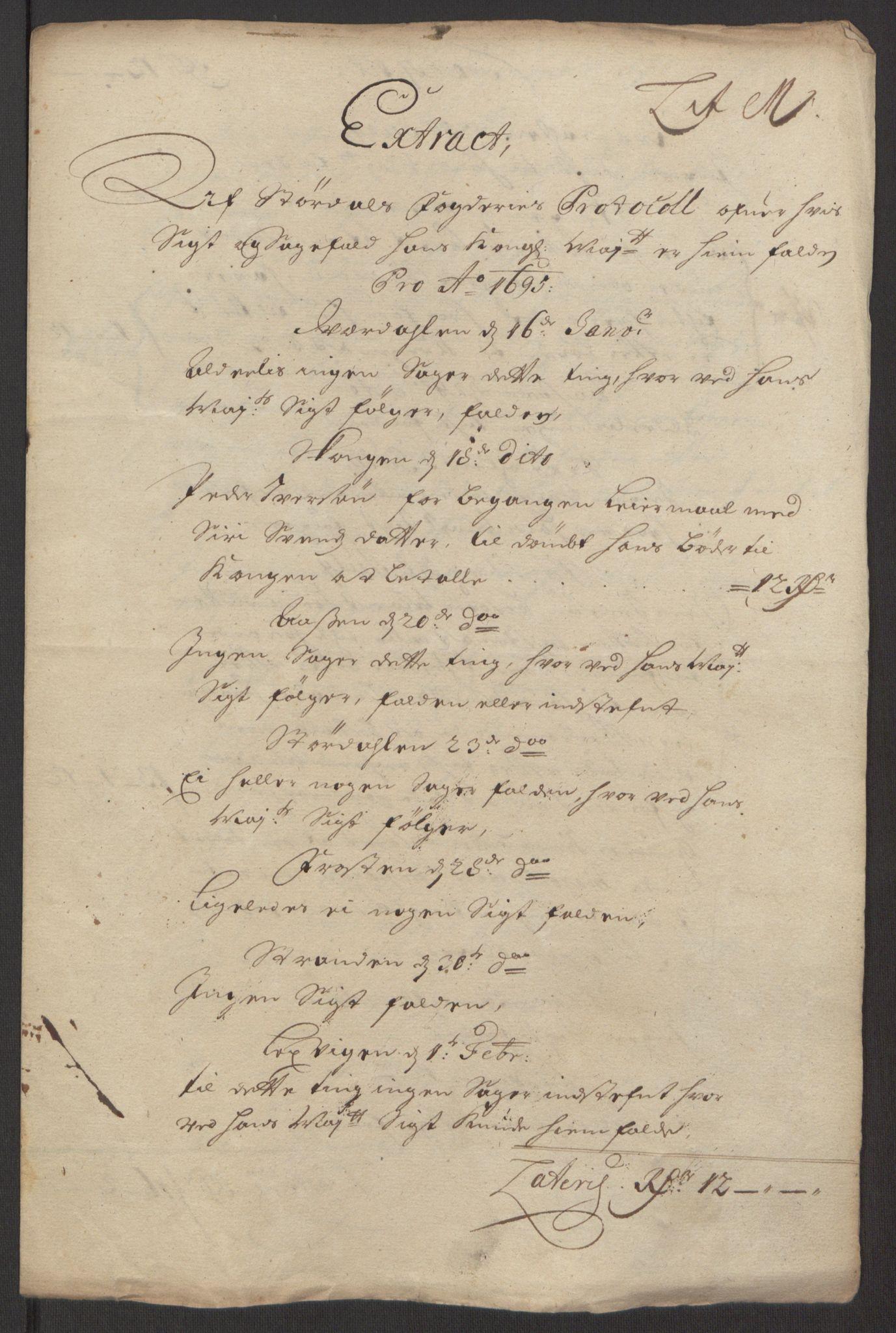 RA, Rentekammeret inntil 1814, Reviderte regnskaper, Fogderegnskap, R62/L4187: Fogderegnskap Stjørdal og Verdal, 1695, s. 138