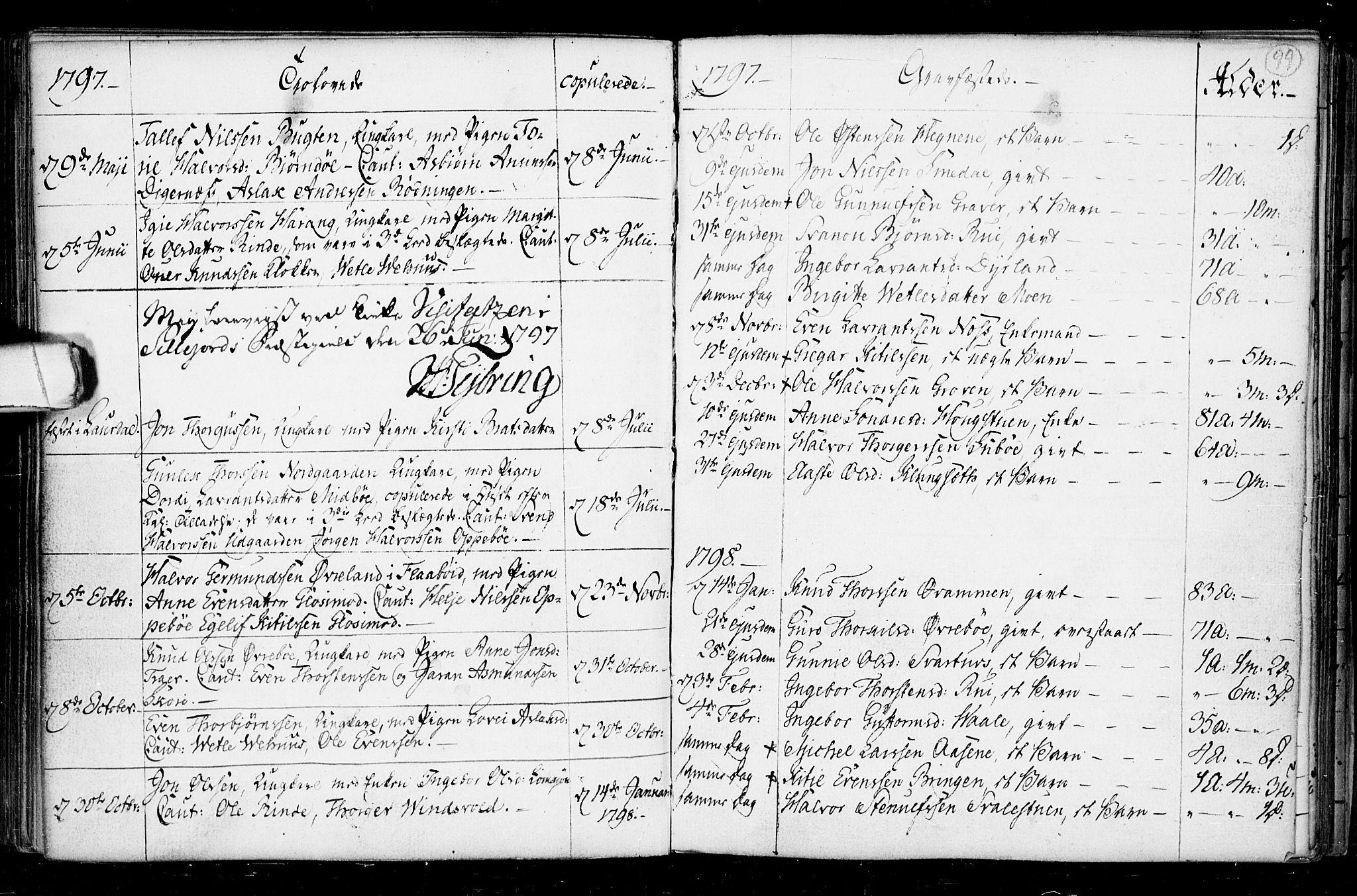 SAKO, Seljord kirkebøker, F/Fa/L0008: Ministerialbok nr. I 8, 1755-1814, s. 99