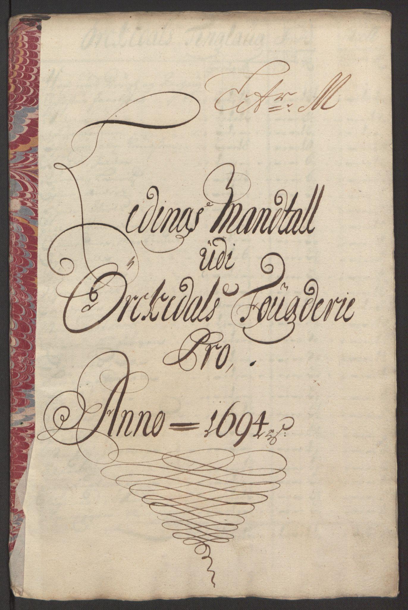 RA, Rentekammeret inntil 1814, Reviderte regnskaper, Fogderegnskap, R60/L3944: Fogderegnskap Orkdal og Gauldal, 1694, s. 141