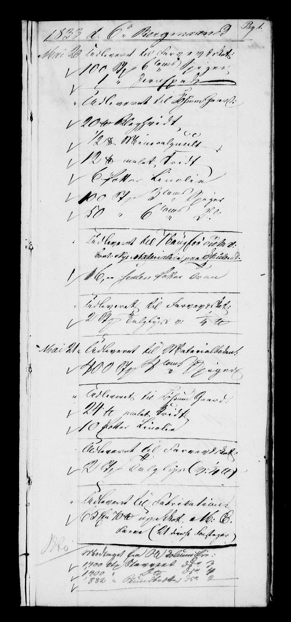 RA, Modums Blaafarveværk, G/Gd/Gdb/L0200: Annotations Bog, Dagbok over inn- og utgående materiale, 1833-1836, s. 2
