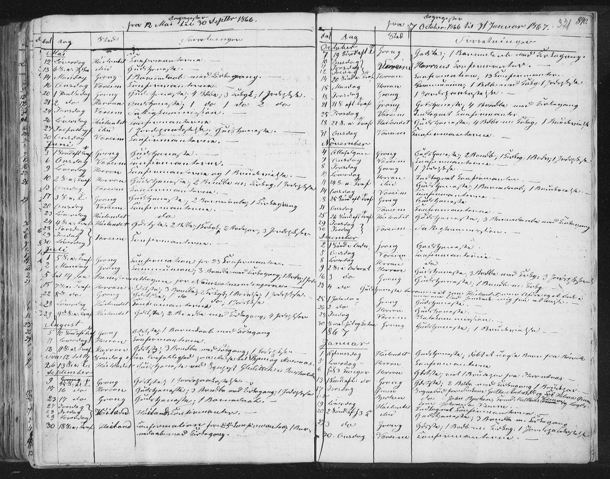 SAT, Ministerialprotokoller, klokkerbøker og fødselsregistre - Nord-Trøndelag, 758/L0513: Ministerialbok nr. 758A02 /1, 1839-1868, s. 321