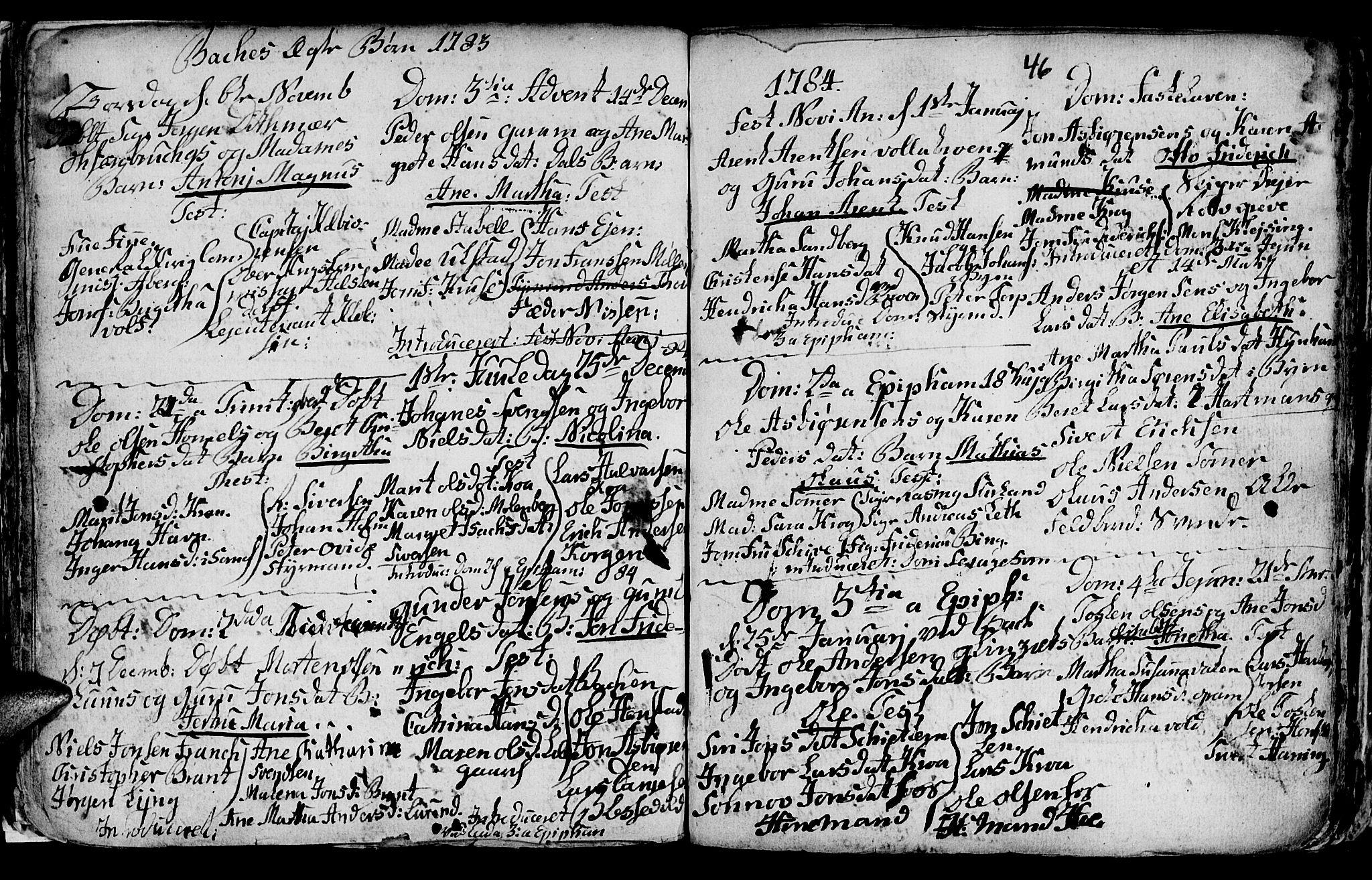 SAT, Ministerialprotokoller, klokkerbøker og fødselsregistre - Sør-Trøndelag, 604/L0218: Klokkerbok nr. 604C01, 1754-1819, s. 46