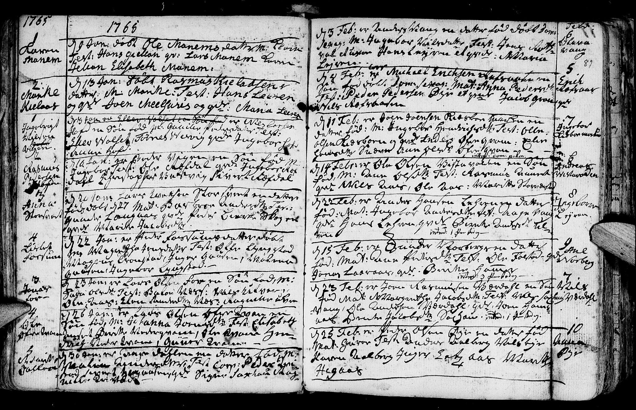 SAT, Ministerialprotokoller, klokkerbøker og fødselsregistre - Nord-Trøndelag, 730/L0273: Ministerialbok nr. 730A02, 1762-1802, s. 89