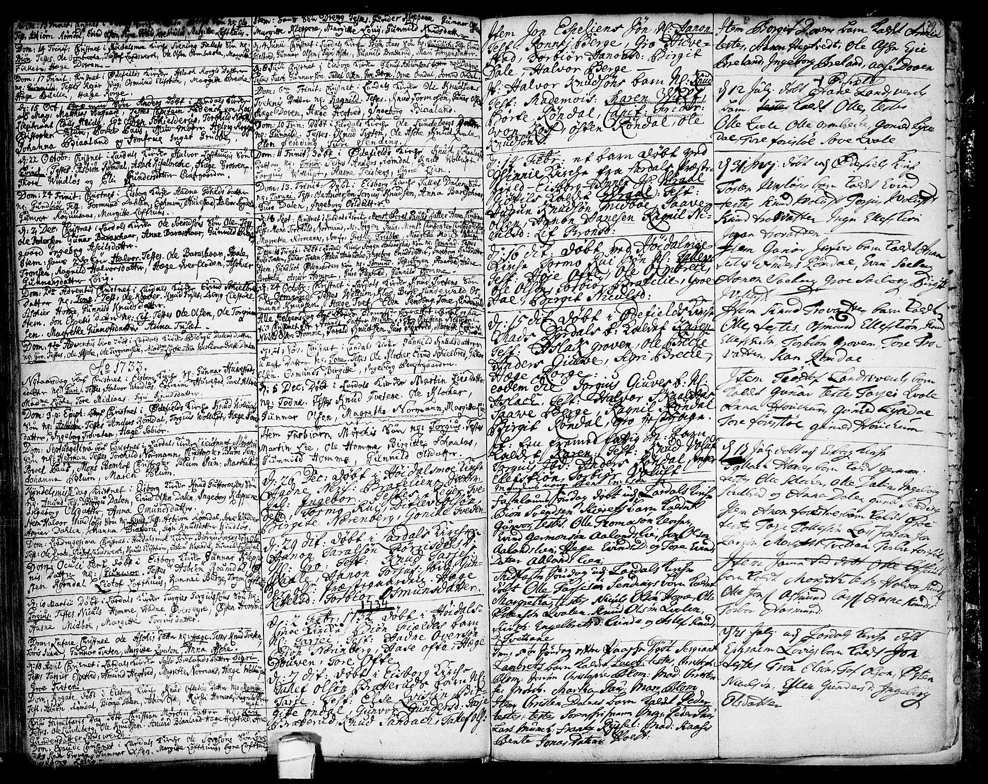 SAKO, Lårdal kirkebøker, F/Fa/L0001: Ministerialbok nr. I 1, 1721-1734, s. 79