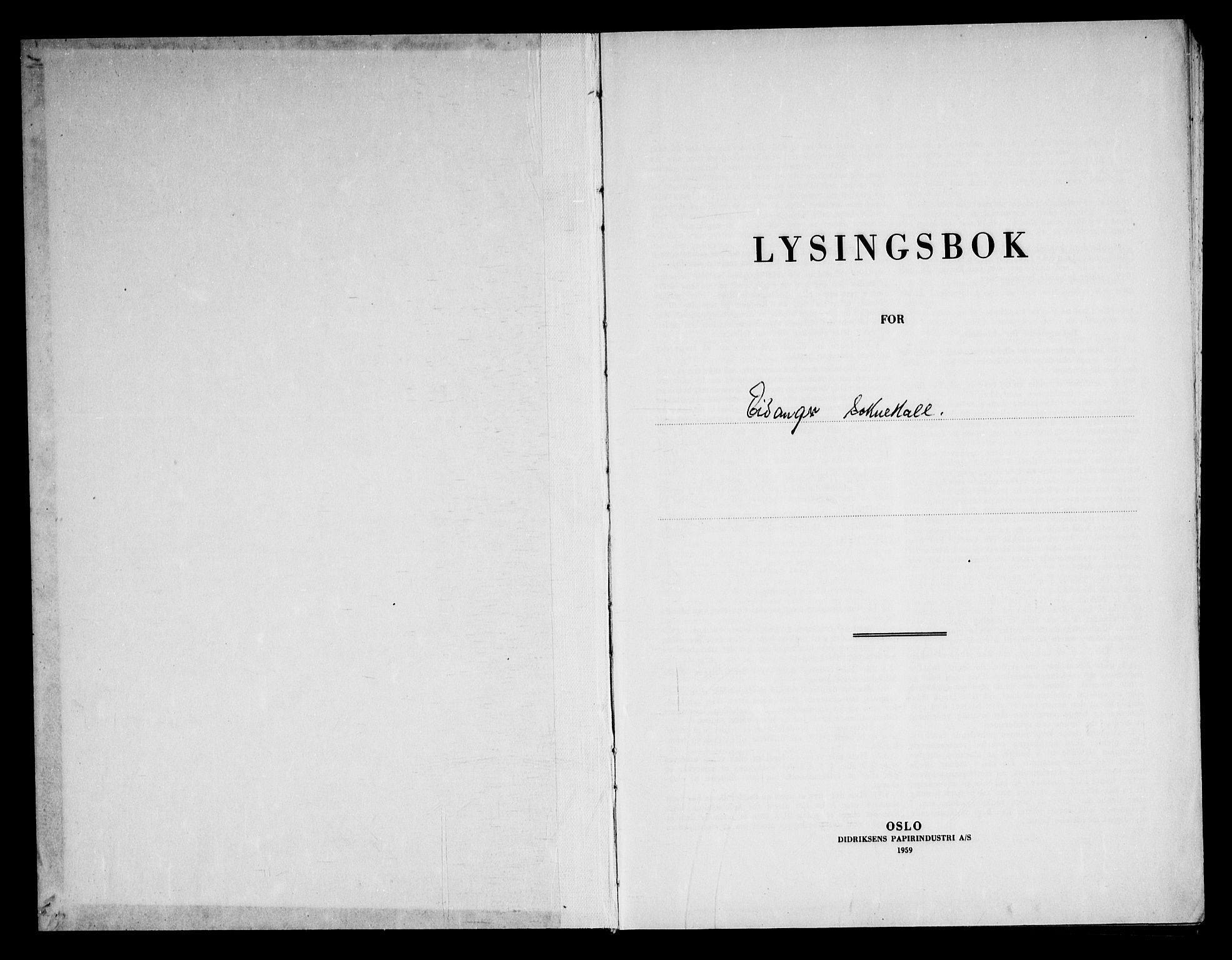 SAKO, Eidanger kirkebøker, H/Ha/L0005: Lysningsprotokoll nr. 5, 1964-1969