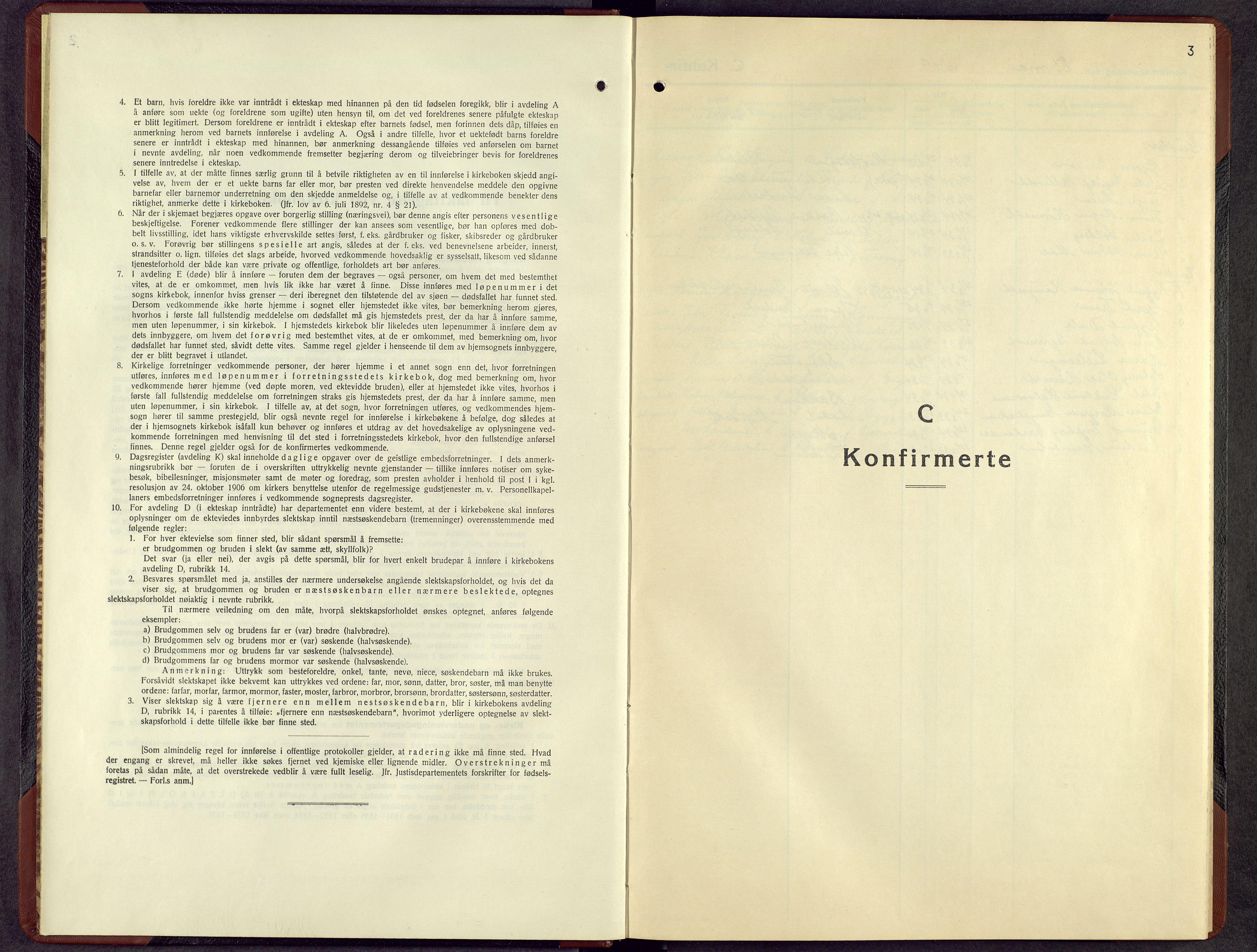 SAH, Rendalen prestekontor, H/Ha/Hab/L0007: Klokkerbok nr. 7, 1949-1958, s. 3