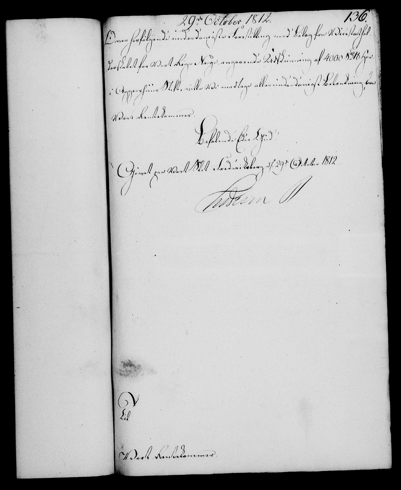 RA, Rentekammeret, Kammerkanselliet, G/Gf/Gfa/L0094: Norsk relasjons- og resolusjonsprotokoll (merket RK 52.94), 1812, s. 533