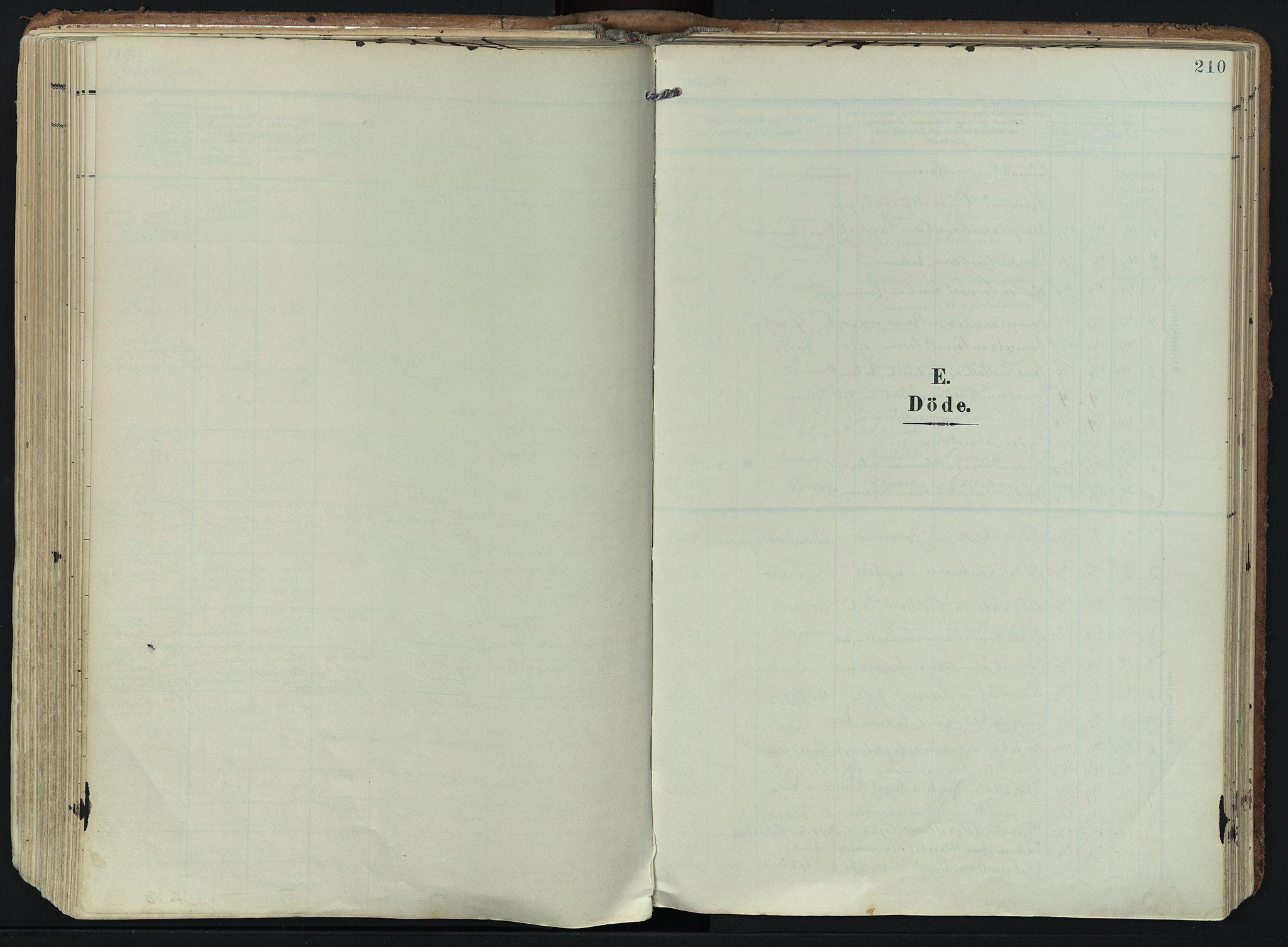 SAKO, Hedrum kirkebøker, F/Fa/L0010: Ministerialbok nr. I 10, 1904-1918, s. 210