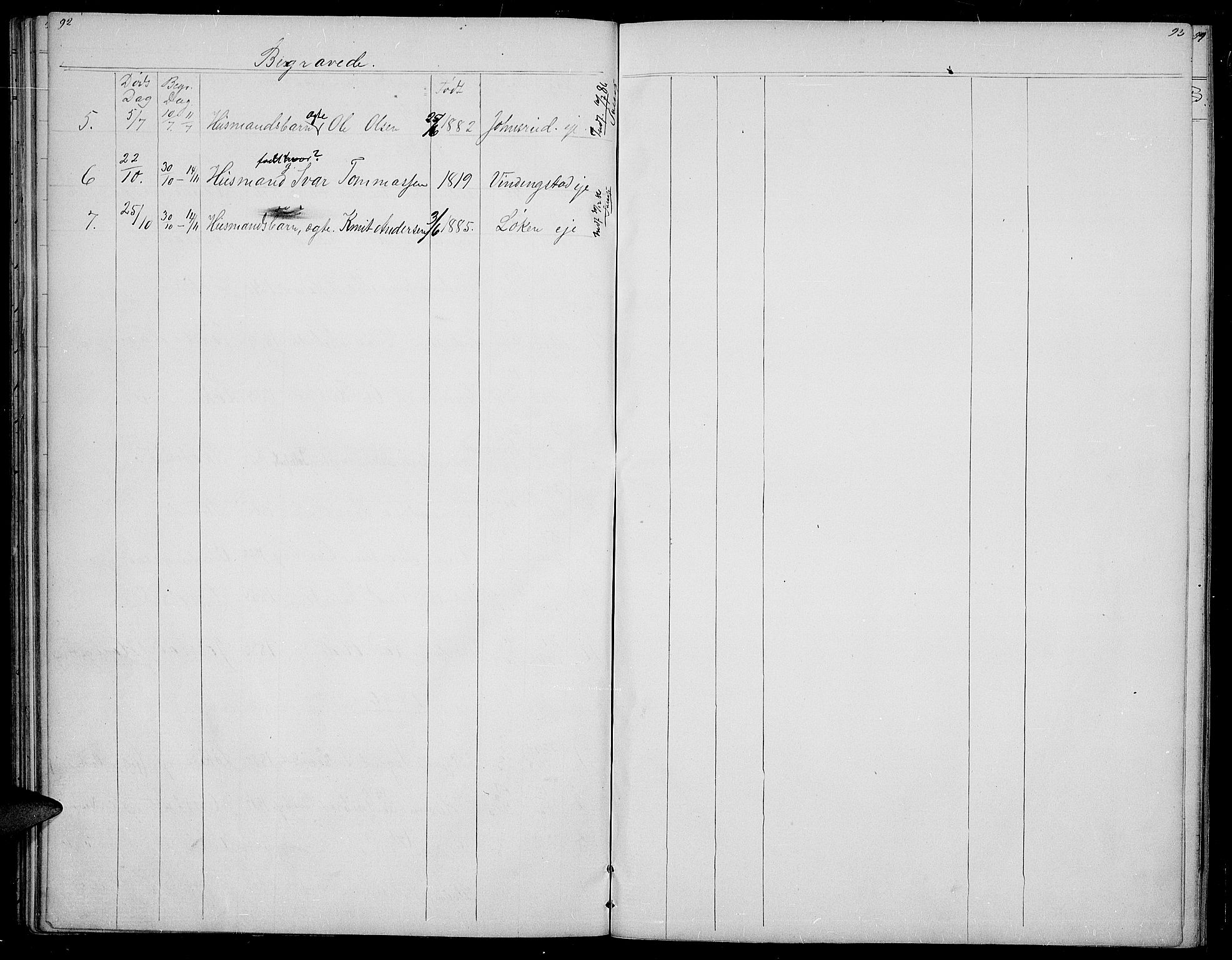 SAH, Øystre Slidre prestekontor, Klokkerbok nr. 2, 1866-1886, s. 92-93