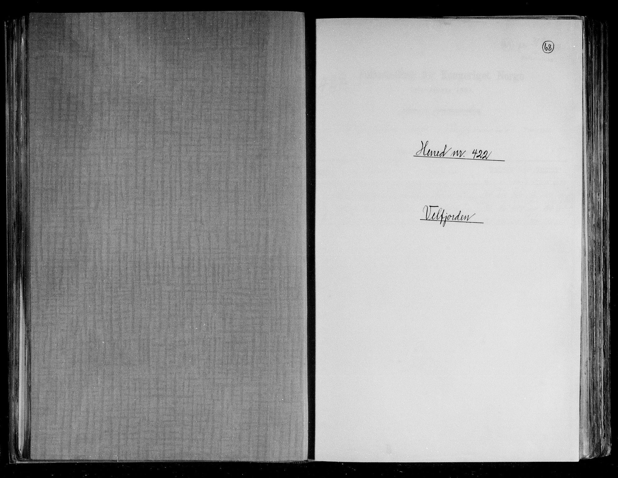 RA, Folketelling 1891 for 1813 Velfjord herred, 1891, s. 1