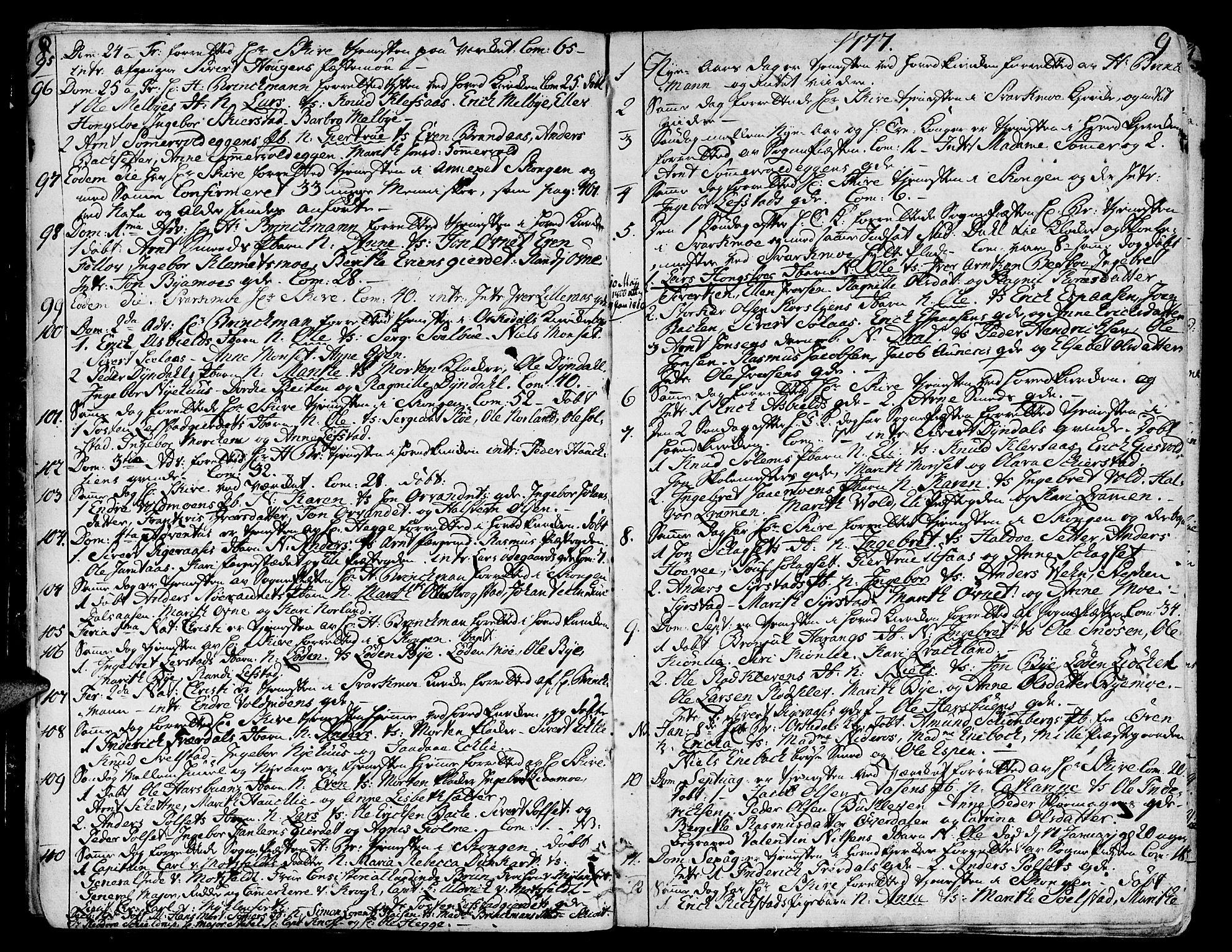 SAT, Ministerialprotokoller, klokkerbøker og fødselsregistre - Sør-Trøndelag, 668/L0802: Ministerialbok nr. 668A02, 1776-1799, s. 8-9
