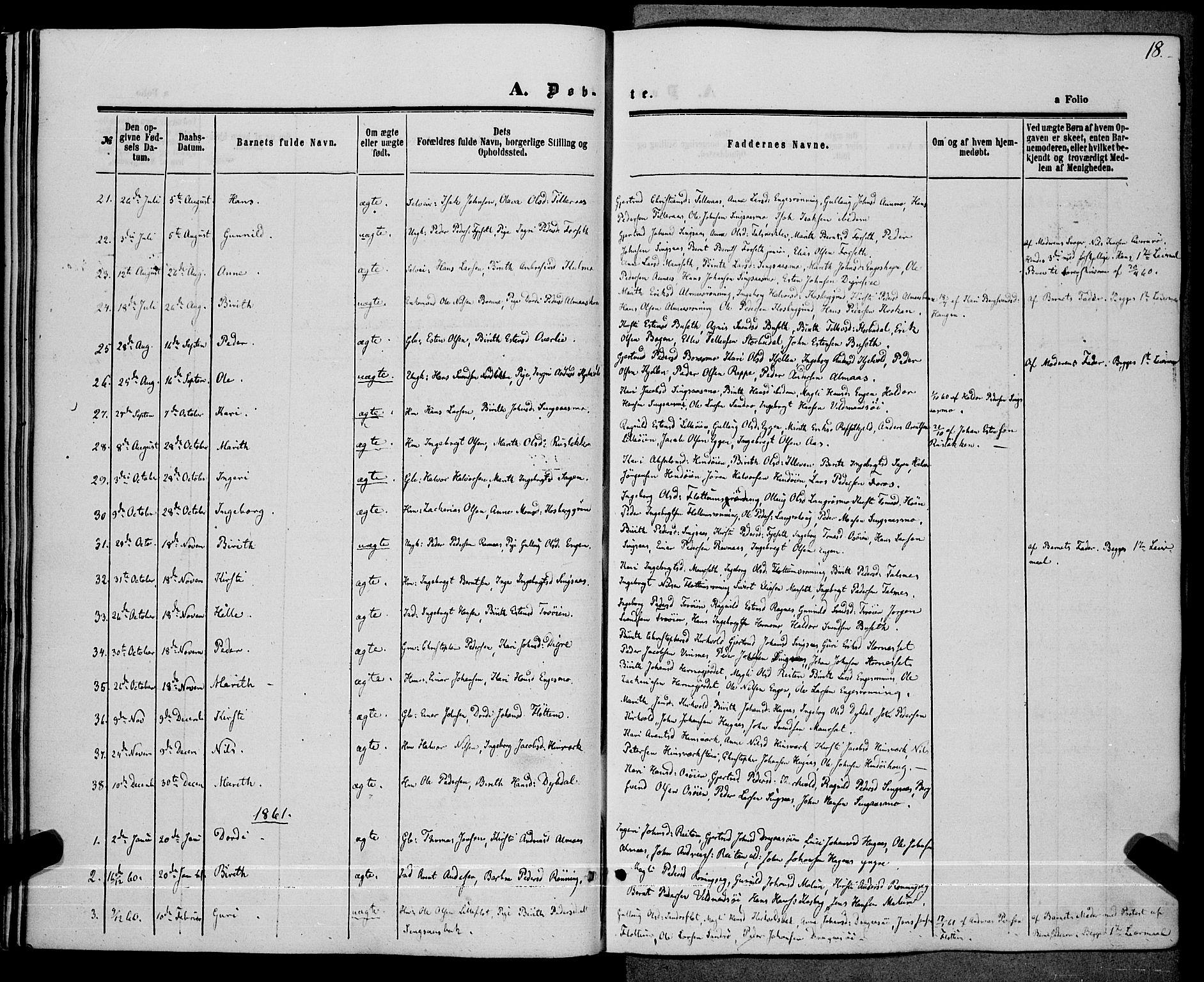 SAT, Ministerialprotokoller, klokkerbøker og fødselsregistre - Sør-Trøndelag, 685/L0967: Ministerialbok nr. 685A07 /2, 1860-1869, s. 18