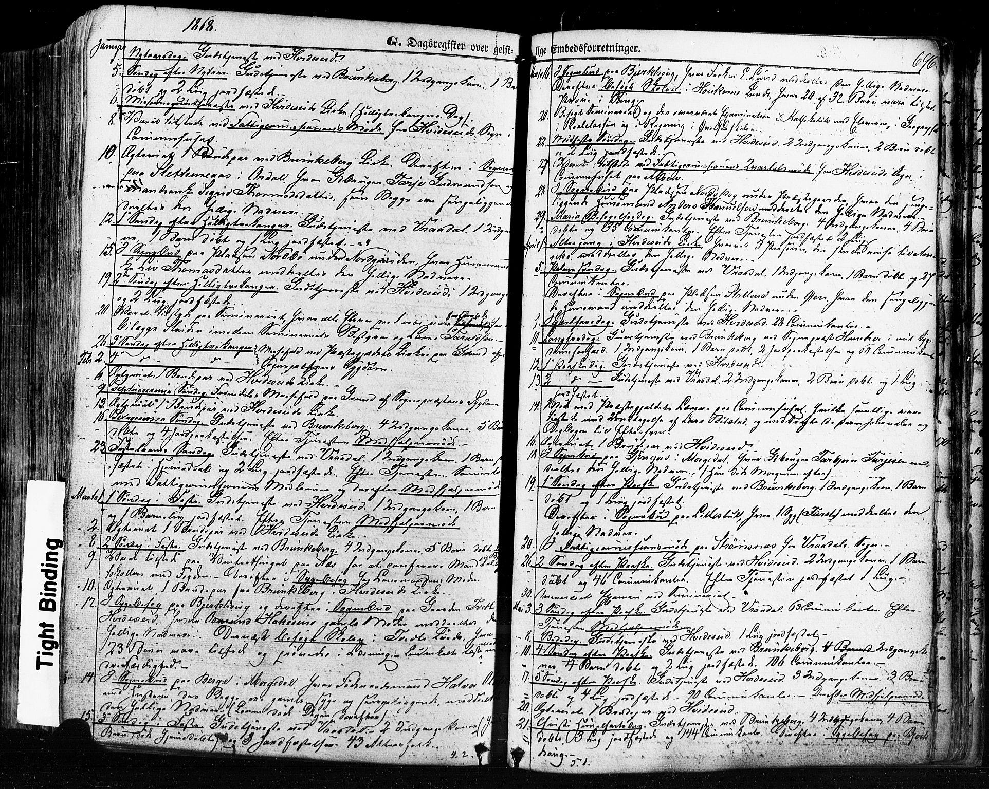 SAKO, Kviteseid kirkebøker, F/Fa/L0007: Ministerialbok nr. I 7, 1859-1881, s. 696