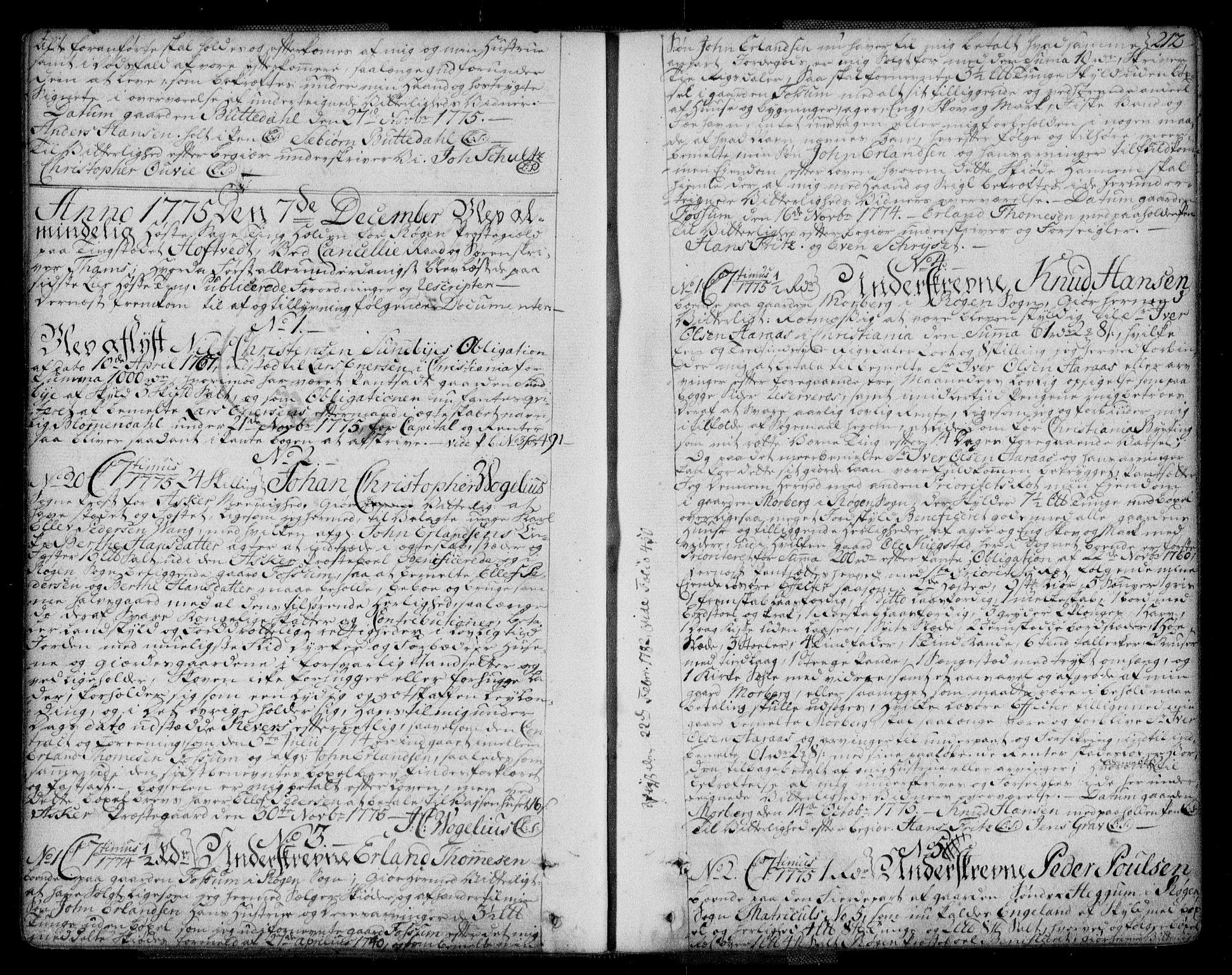 SAKO, Lier, Røyken og Hurum sorenskriveri, G/Ga/Gaa/L0004a: Pantebok nr. IVa, 1771-1779, s. 212