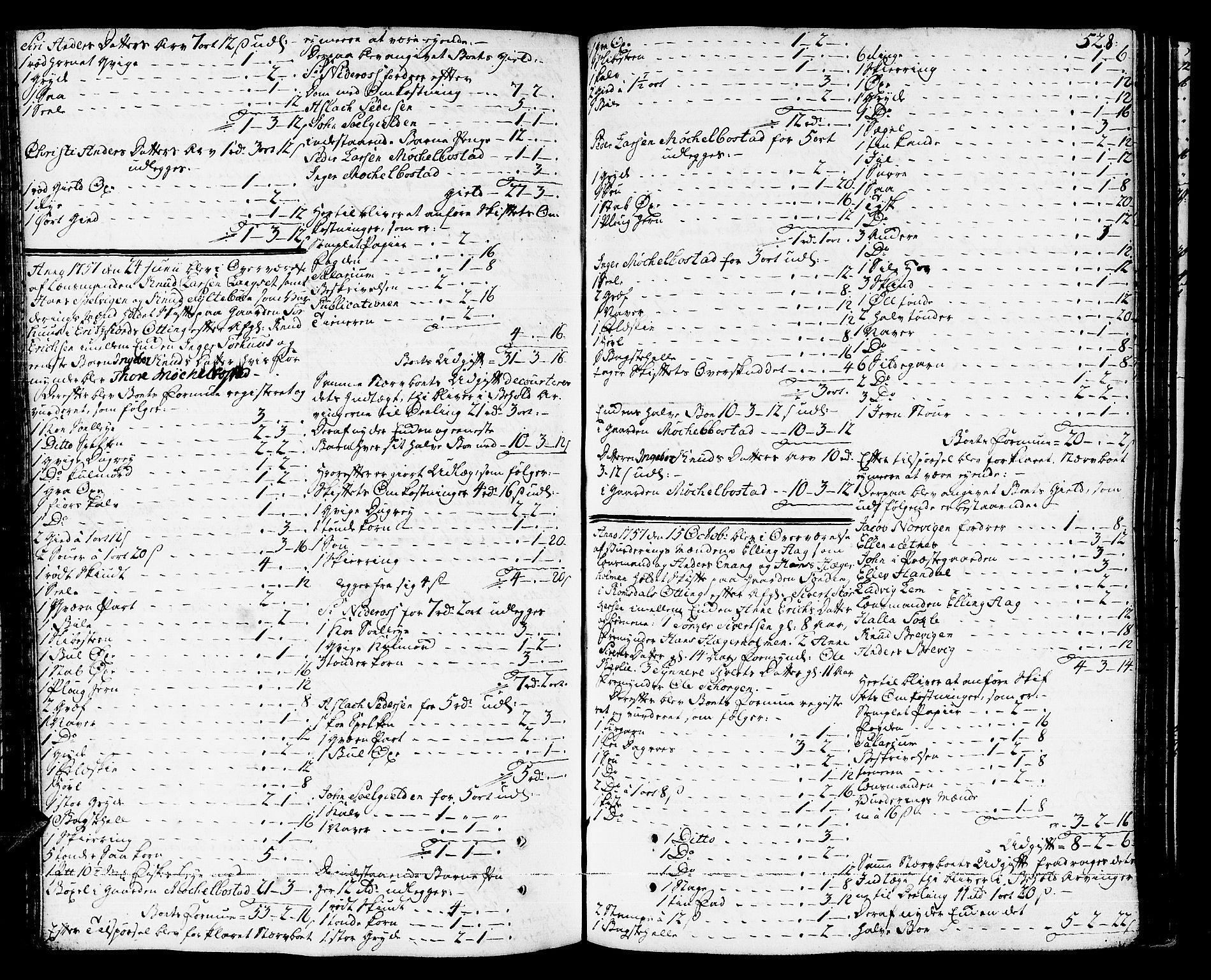 SAT, Romsdal sorenskriveri, 3/3A/L0008: Skifteprotokoll, 1752-1761, s. 527b-528a
