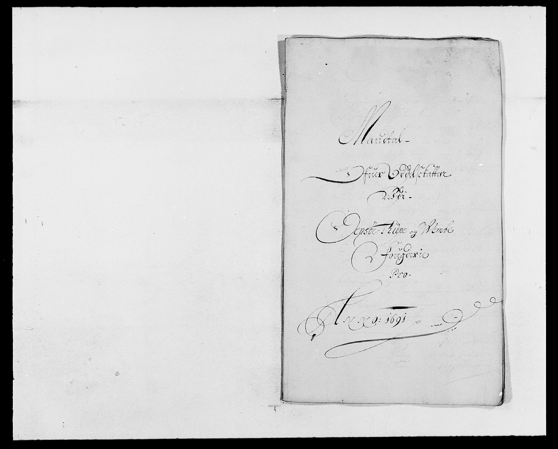 RA, Rentekammeret inntil 1814, Reviderte regnskaper, Fogderegnskap, R03/L0119: Fogderegnskap Onsøy, Tune, Veme og Åbygge fogderi, 1690-1691, s. 381