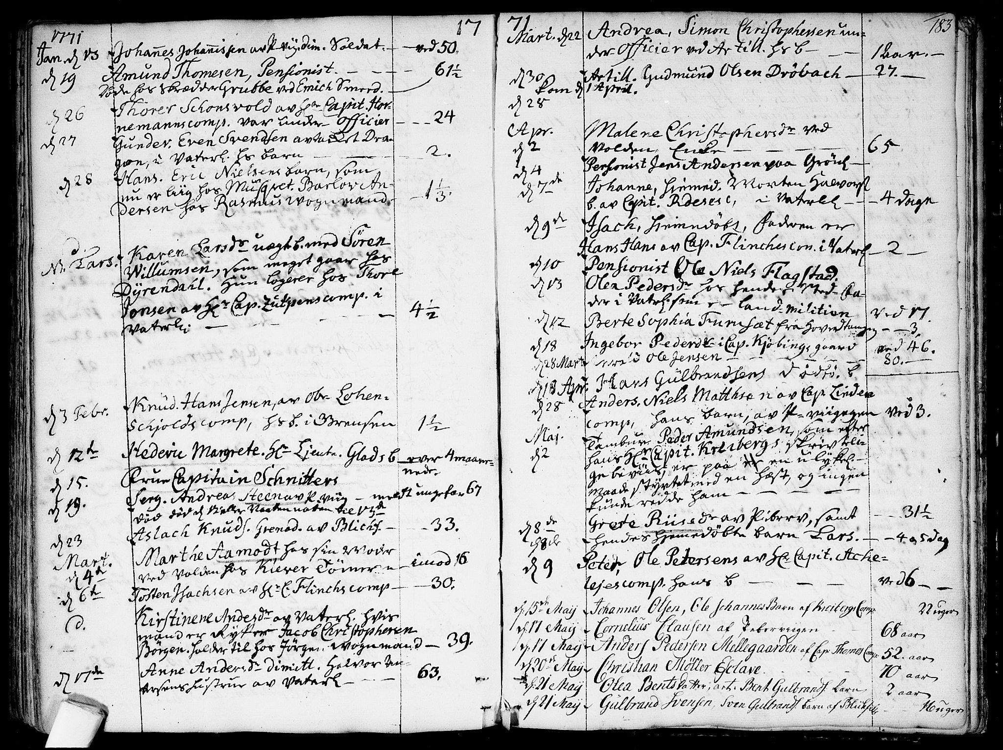 SAO, Garnisonsmenigheten Kirkebøker, F/Fa/L0002: Ministerialbok nr. 2, 1757-1776, s. 183