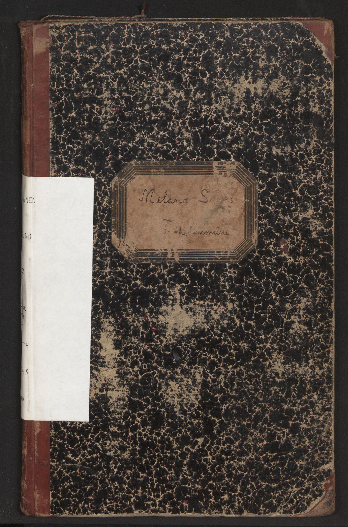 SAB, Lensmannen i Alversund, 0020/L0002: Protokoll over inn- og utflytte, Meland, 1923-1943