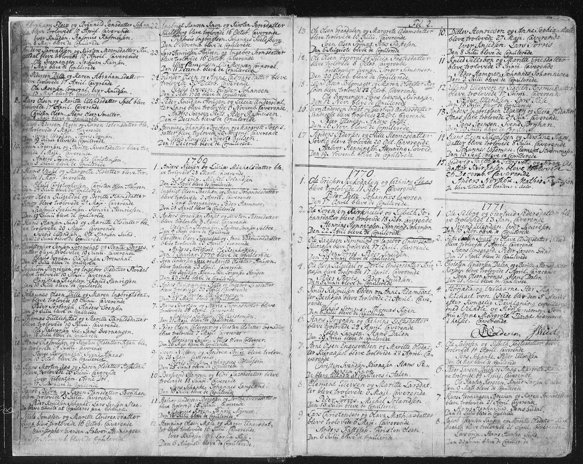 SAT, Ministerialprotokoller, klokkerbøker og fødselsregistre - Sør-Trøndelag, 681/L0926: Ministerialbok nr. 681A04, 1767-1797, s. 2