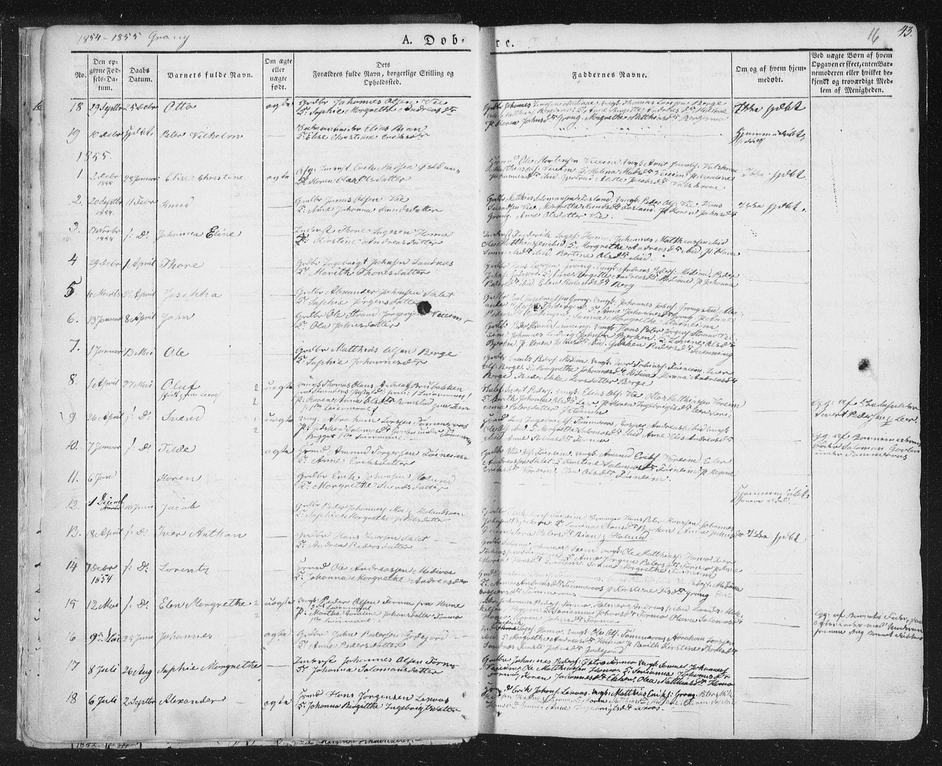 SAT, Ministerialprotokoller, klokkerbøker og fødselsregistre - Nord-Trøndelag, 758/L0513: Ministerialbok nr. 758A02 /1, 1839-1868, s. 16