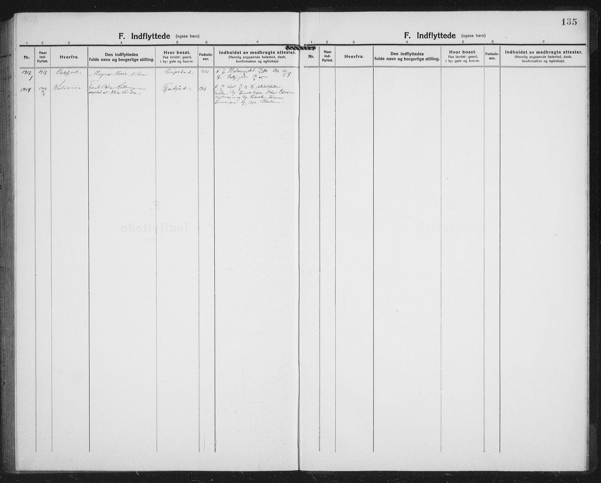 SATØ, Lenvik sokneprestembete, H/Ha/Hab/L0023klokker: Klokkerbok nr. 23, 1918-1936, s. 135