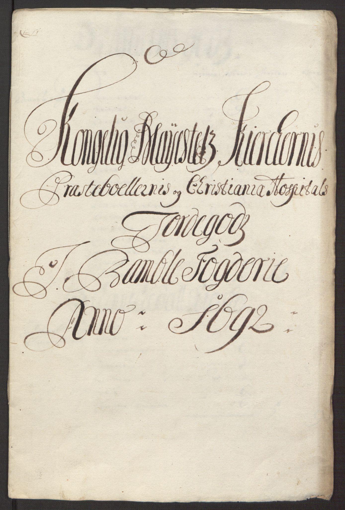 RA, Rentekammeret inntil 1814, Reviderte regnskaper, Fogderegnskap, R34/L2052: Fogderegnskap Bamble, 1692-1693, s. 240