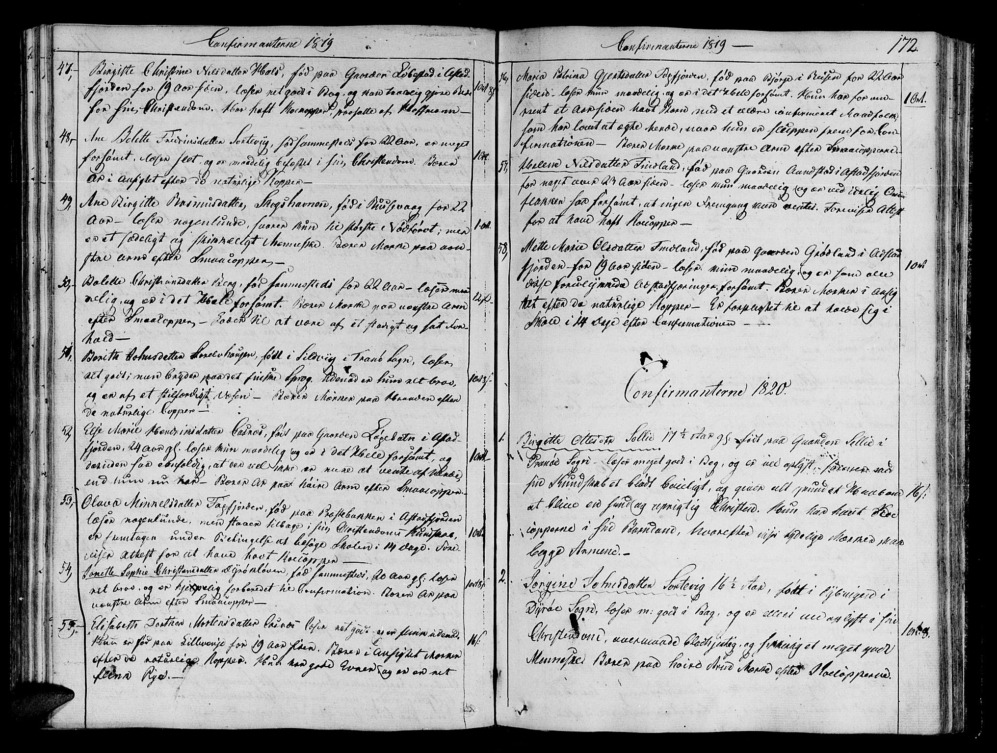 SATØ, Tranøy sokneprestkontor, I/Ia/Iaa/L0003kirke: Ministerialbok nr. 3, 1807-1820, s. 172