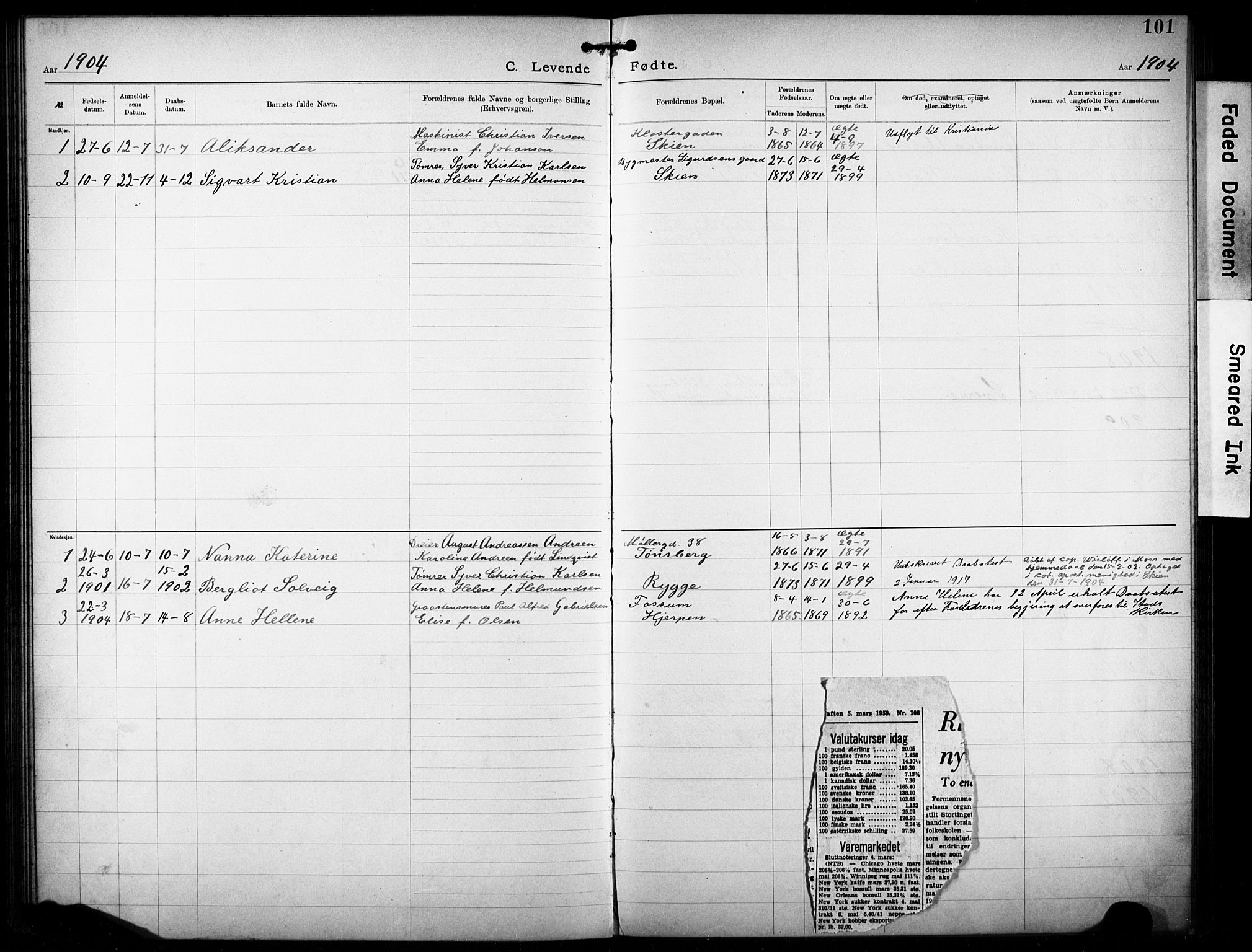 SAKO, Den katolsk-apostoliske menighet i Larvik, F/Fa/L0001: Dissenterprotokoll nr. 1, 1892-1933, s. 101