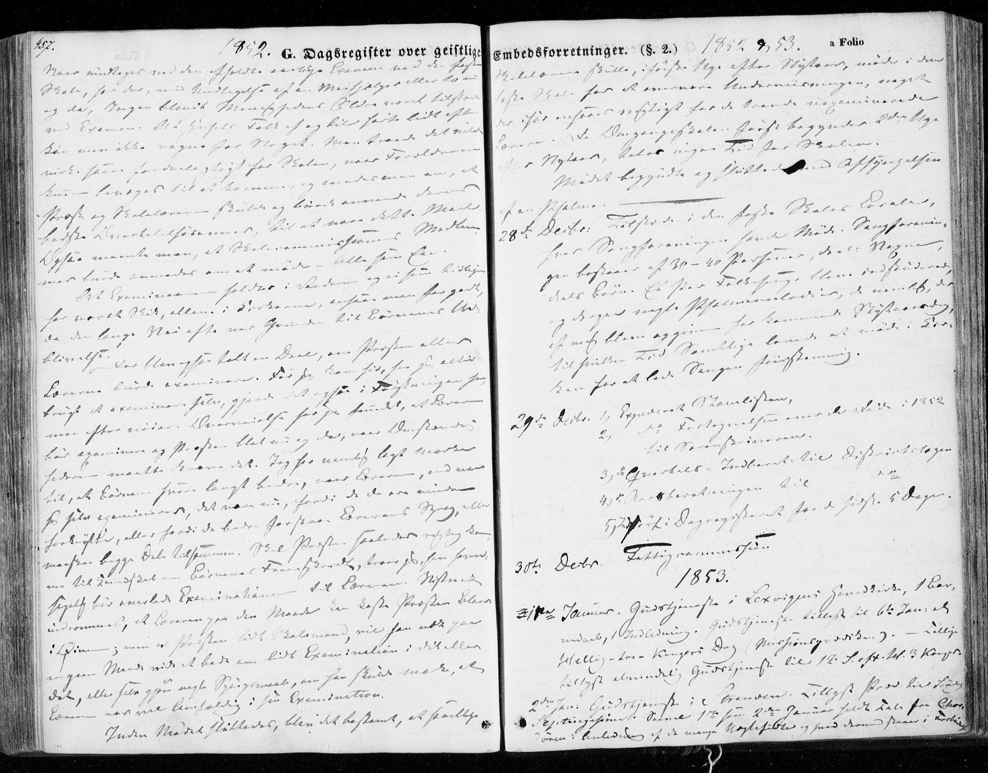 SAT, Ministerialprotokoller, klokkerbøker og fødselsregistre - Nord-Trøndelag, 701/L0007: Ministerialbok nr. 701A07 /1, 1842-1854, s. 457