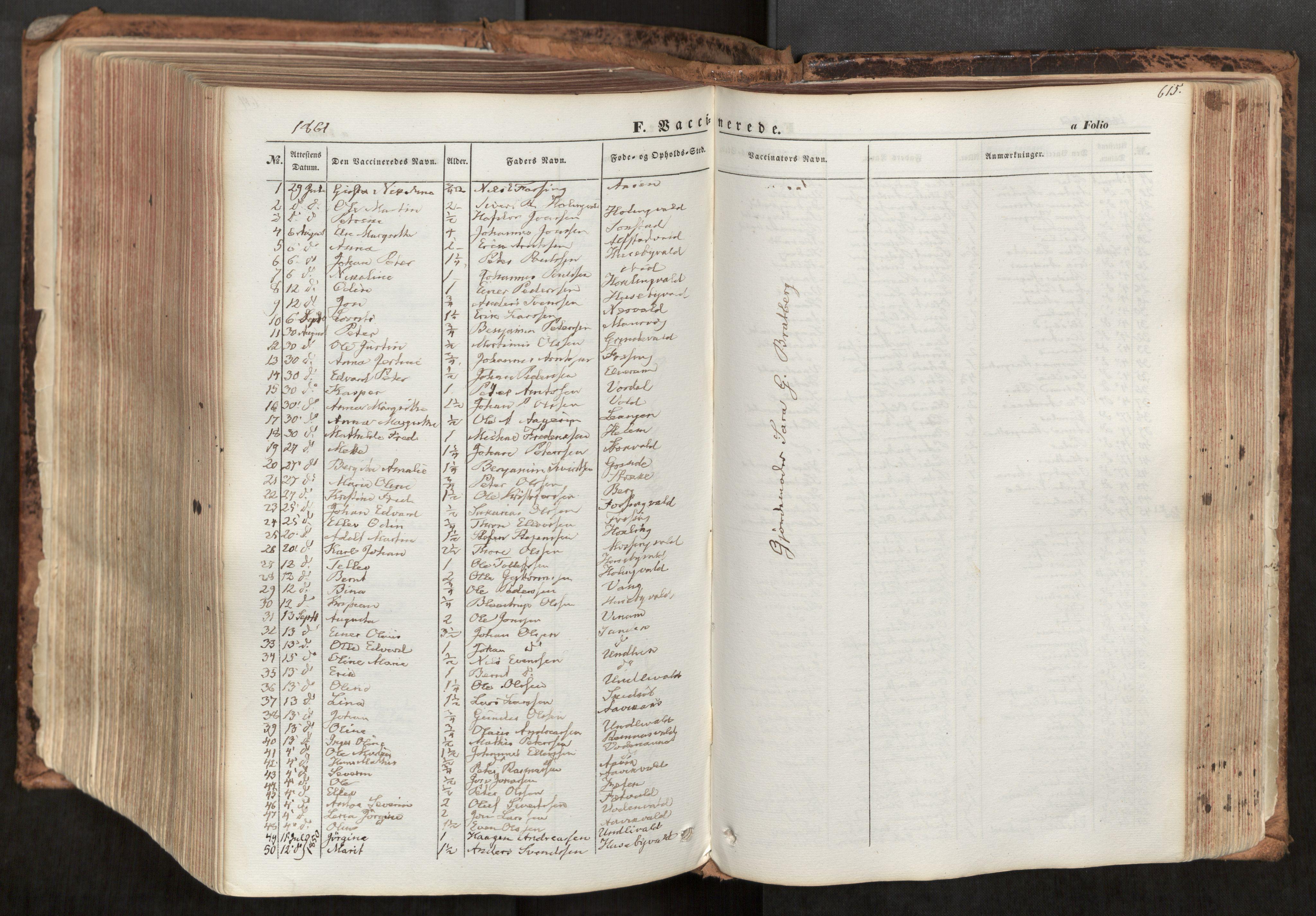 SAT, Ministerialprotokoller, klokkerbøker og fødselsregistre - Nord-Trøndelag, 713/L0116: Ministerialbok nr. 713A07, 1850-1877, s. 615