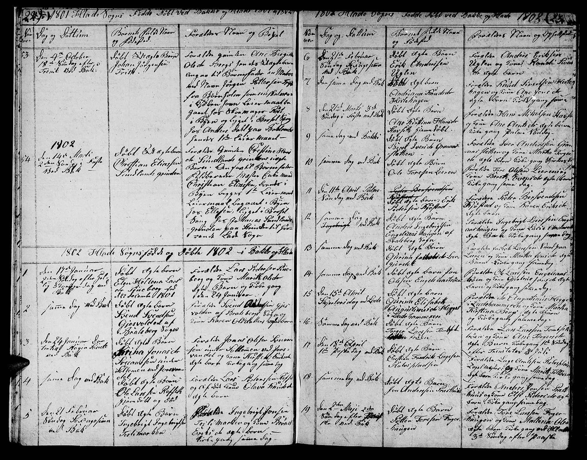 SAT, Ministerialprotokoller, klokkerbøker og fødselsregistre - Sør-Trøndelag, 606/L0306: Klokkerbok nr. 606C02, 1797-1829, s. 22-23