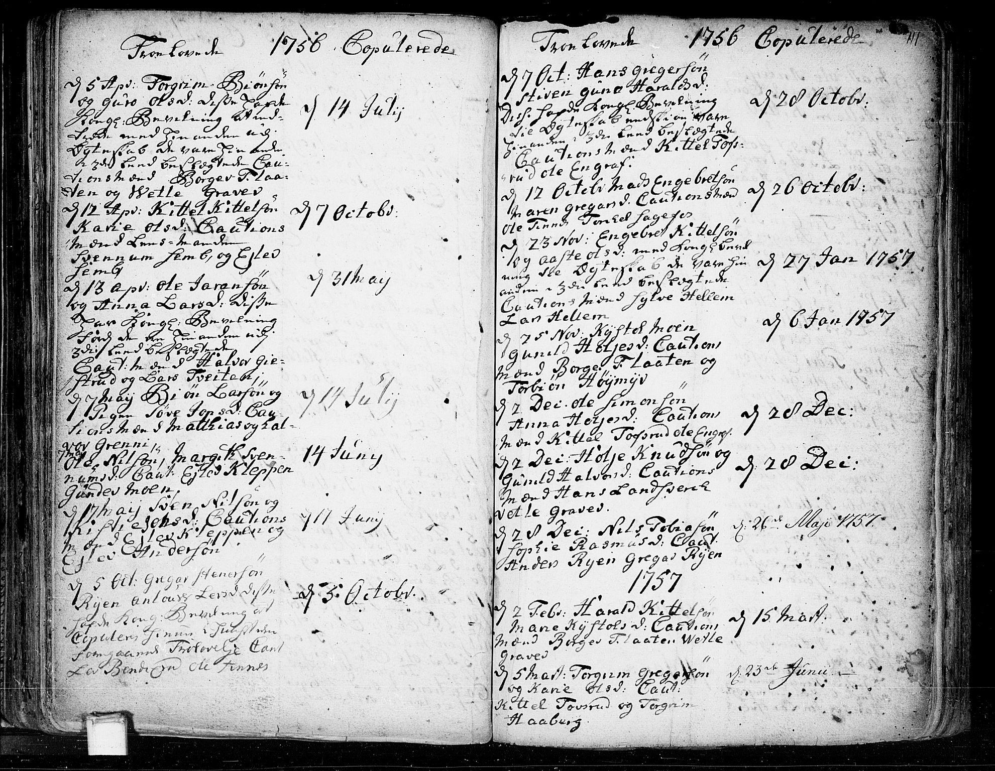 SAKO, Heddal kirkebøker, F/Fa/L0003: Ministerialbok nr. I 3, 1723-1783, s. 111