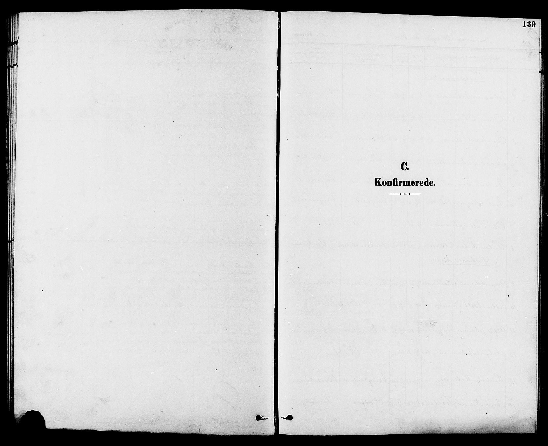 SAH, Vestre Toten prestekontor, Klokkerbok nr. 10, 1900-1912, s. 139