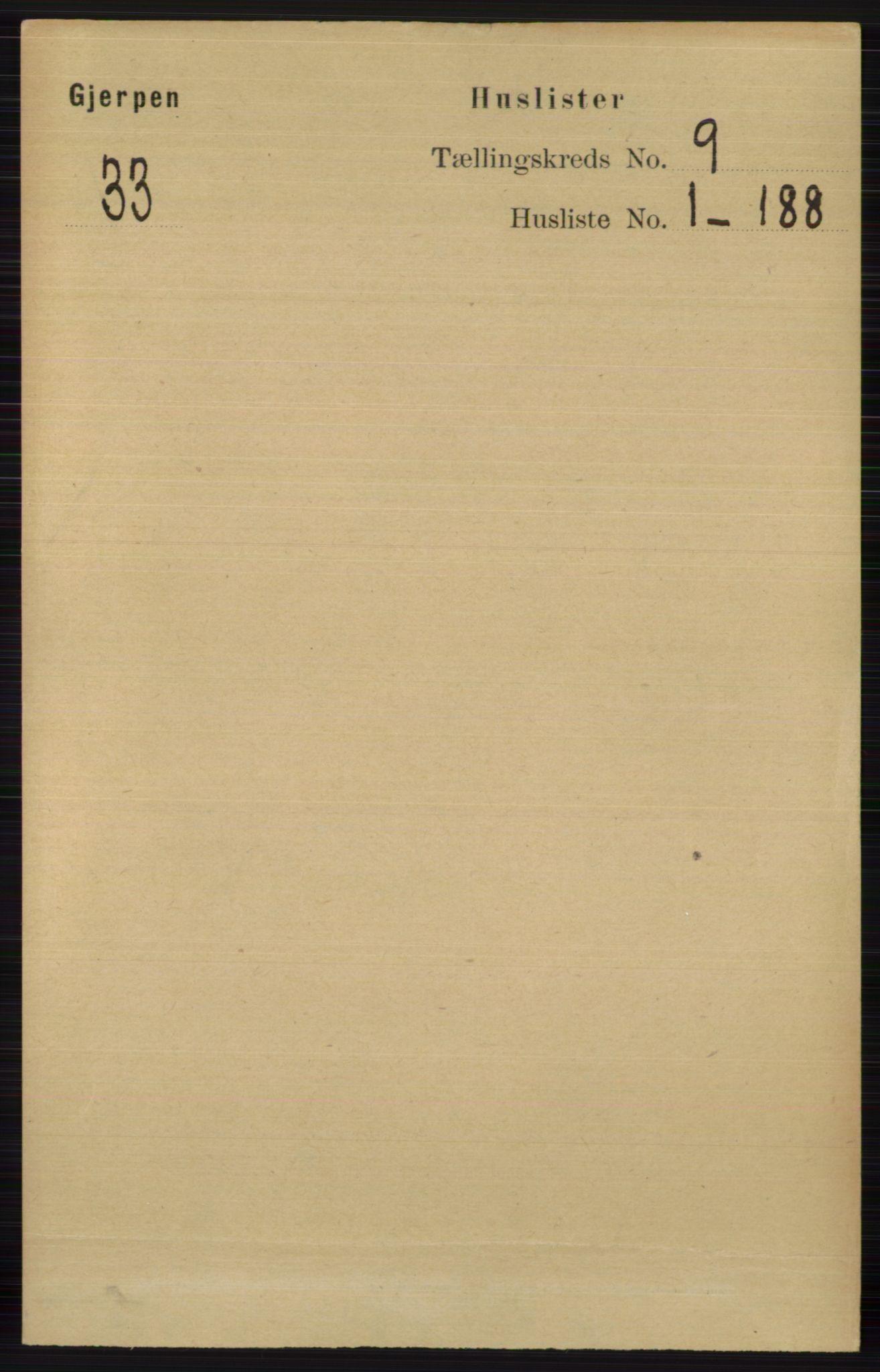 RA, Folketelling 1891 for 0812 Gjerpen herred, 1891, s. 4764