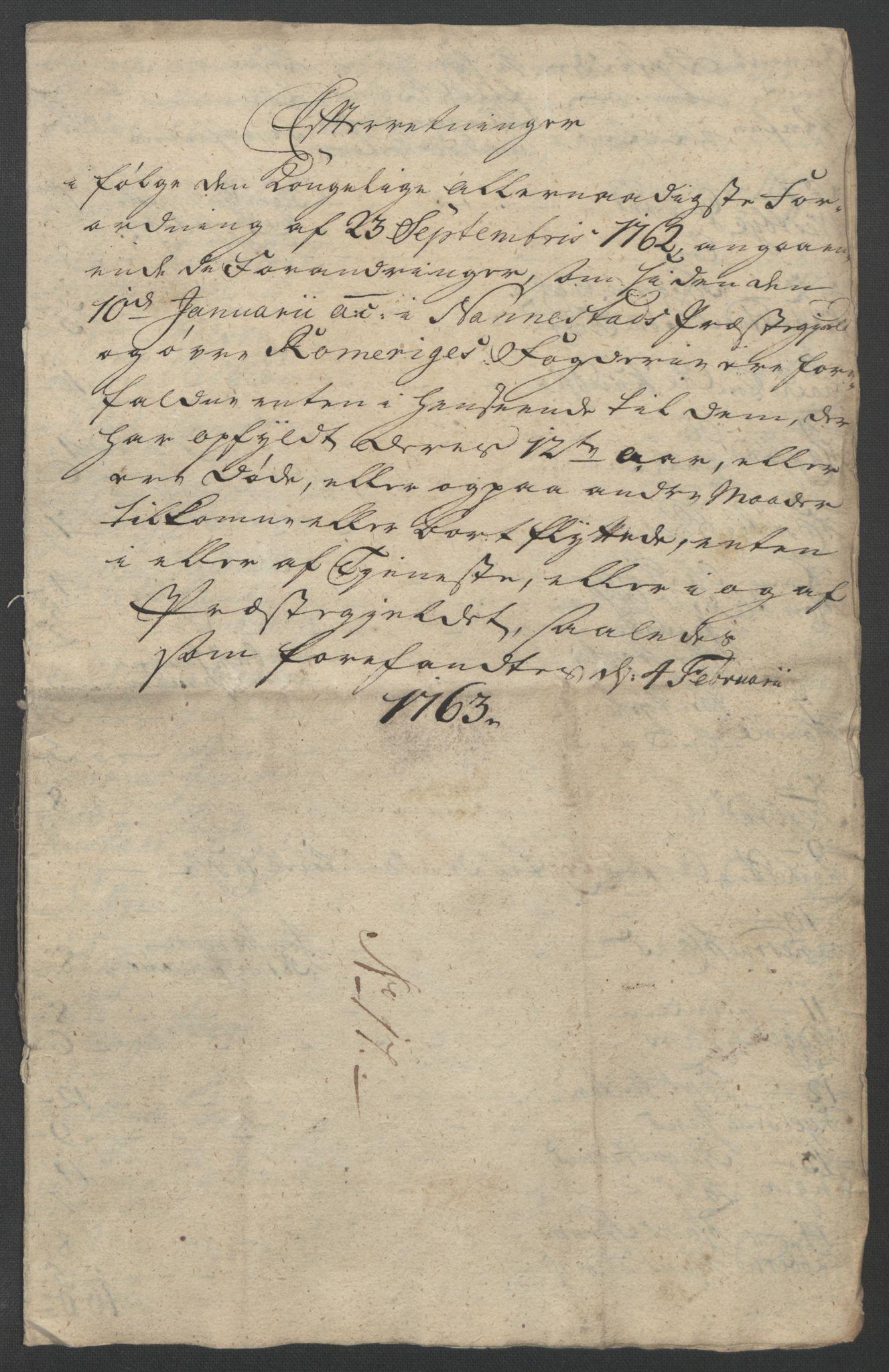 RA, Rentekammeret inntil 1814, Reviderte regnskaper, Fogderegnskap, R12/L0802: Ekstraskatten Øvre Romerike, 1762, s. 396