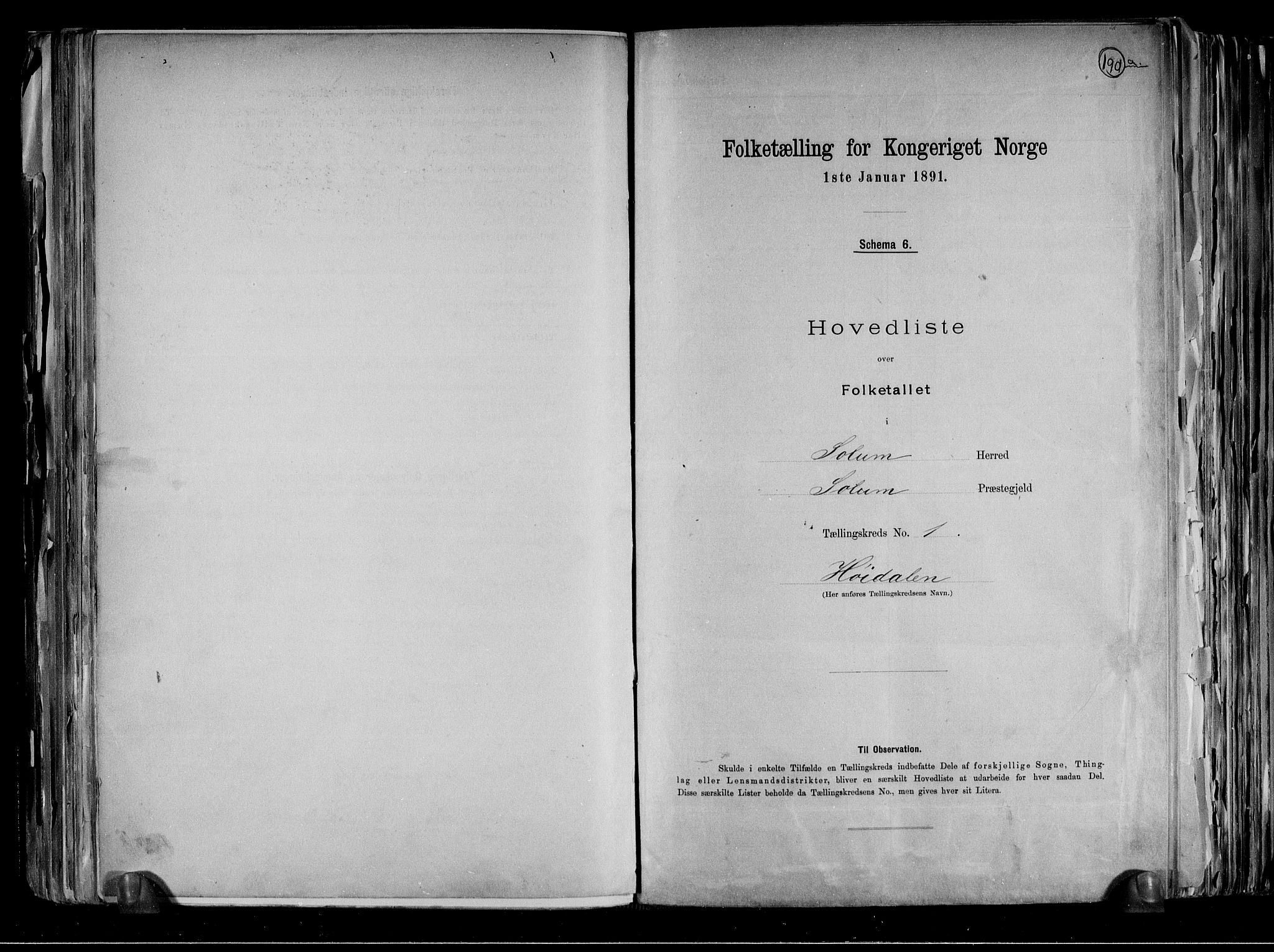 RA, Folketelling 1891 for 0818 Solum herred, 1891, s. 4