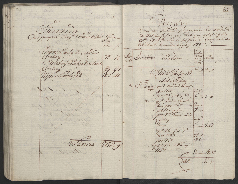 RA, Rentekammeret inntil 1814, Realistisk ordnet avdeling, Ol/L0023: [Gg 10]: Ekstraskatten, 23.09.1762. Helgeland (restanseregister), 1767-1772, s. 230