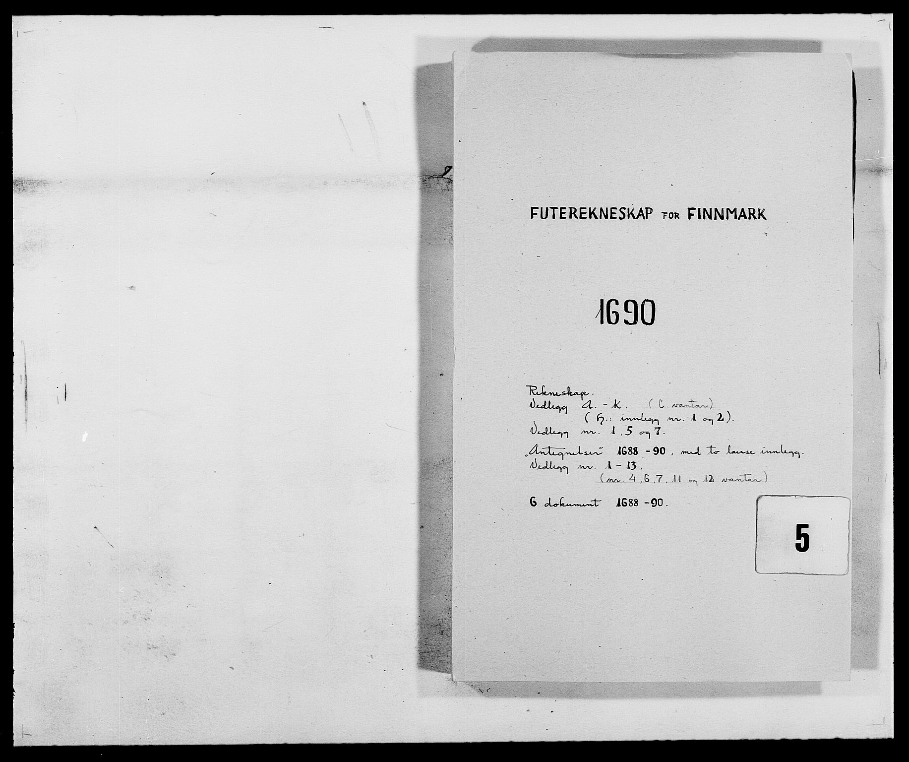RA, Rentekammeret inntil 1814, Reviderte regnskaper, Fogderegnskap, R69/L4850: Fogderegnskap Finnmark/Vardøhus, 1680-1690, s. 198