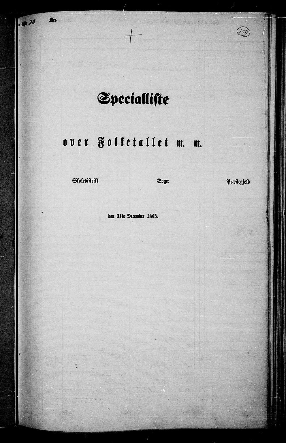 RA, Folketelling 1865 for 0532P Jevnaker prestegjeld, 1865, s. 143