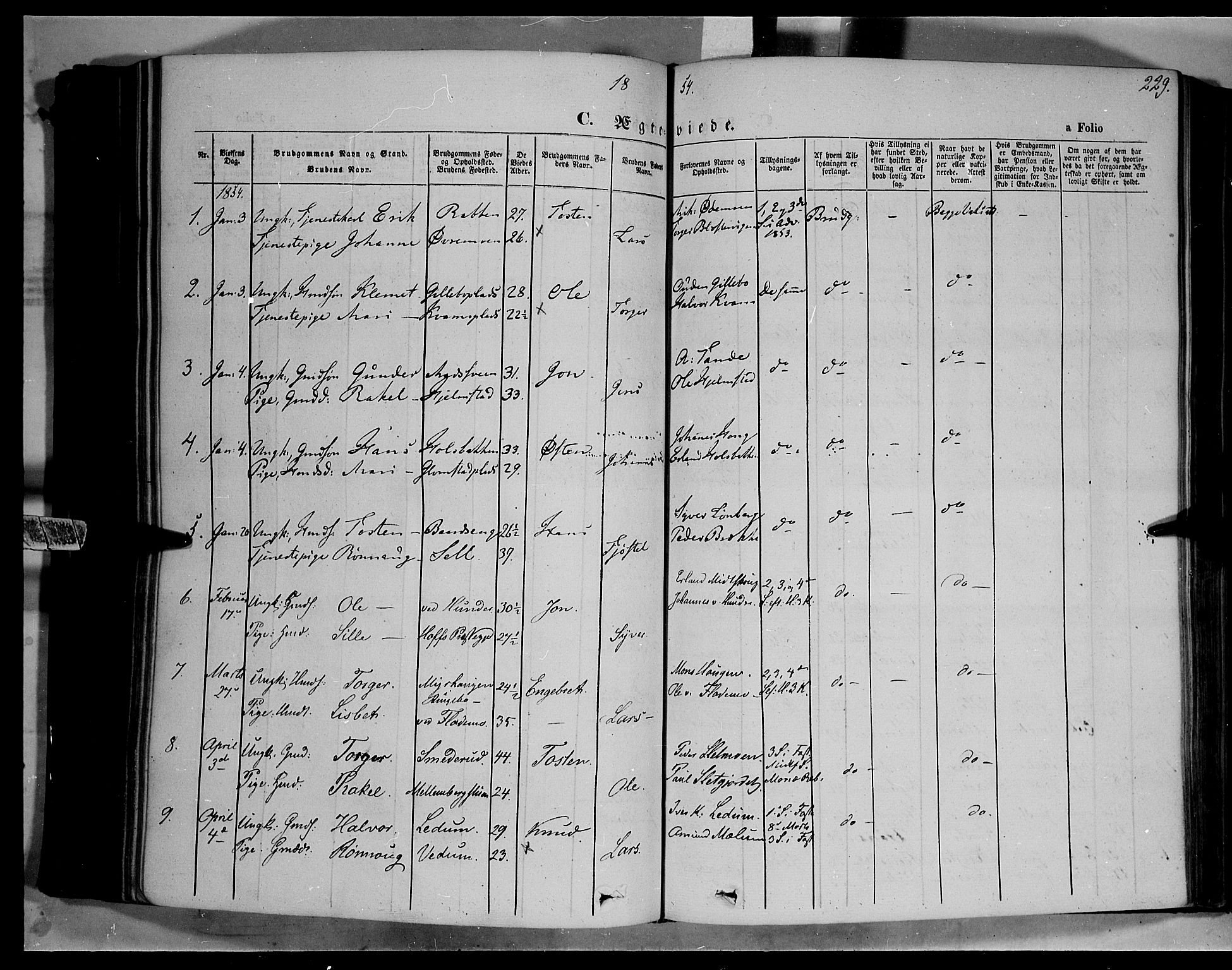 SAH, Øyer prestekontor, Ministerialbok nr. 5, 1842-1857, s. 229