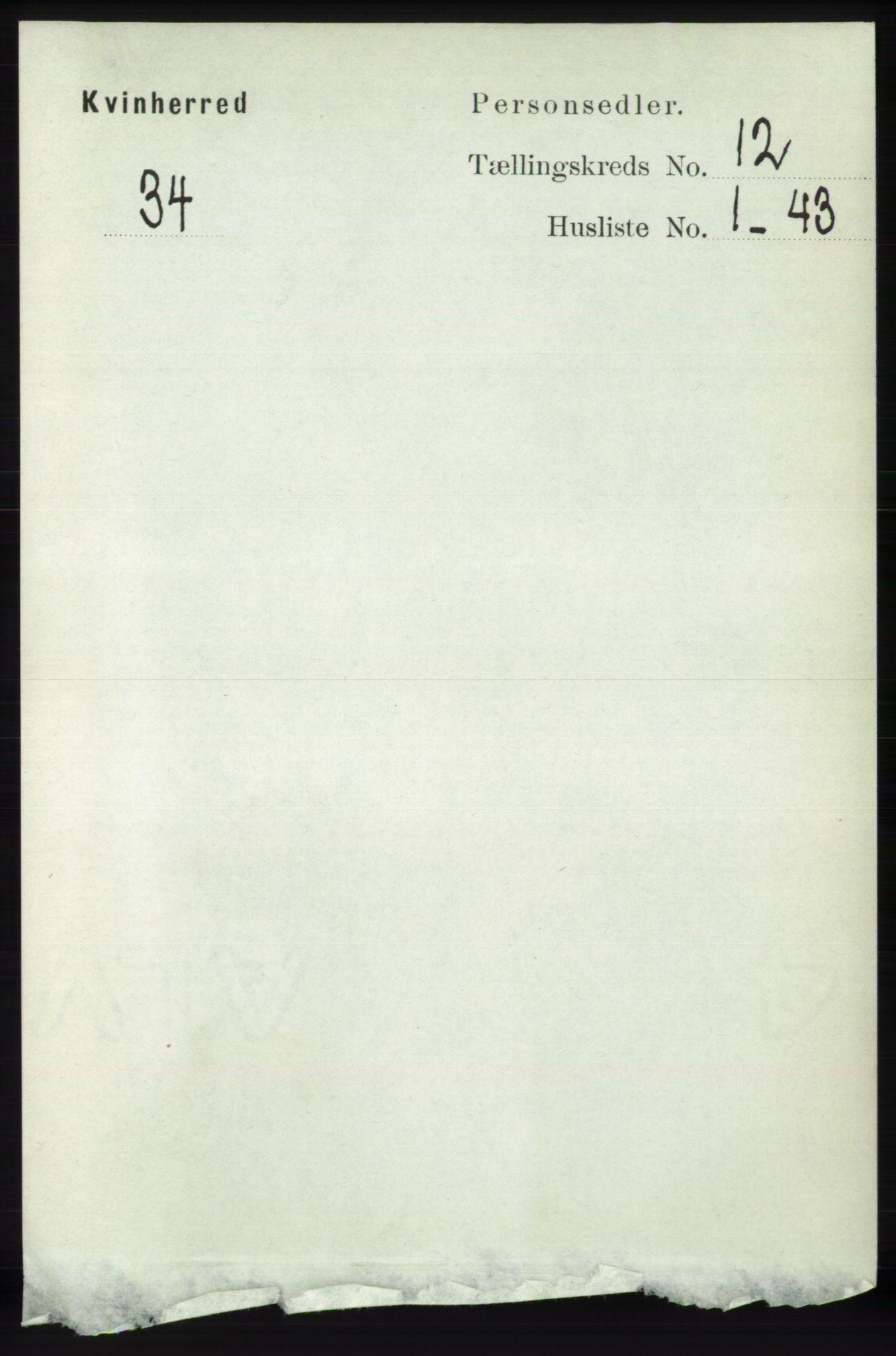 RA, Folketelling 1891 for 1224 Kvinnherad herred, 1891, s. 3964
