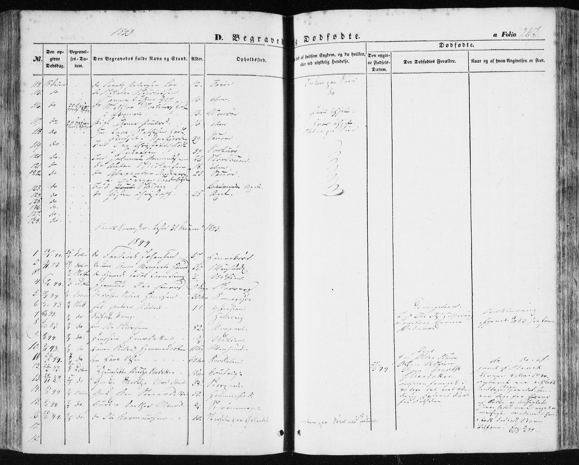 SAT, Ministerialprotokoller, klokkerbøker og fødselsregistre - Sør-Trøndelag, 634/L0529: Ministerialbok nr. 634A05, 1843-1851, s. 267
