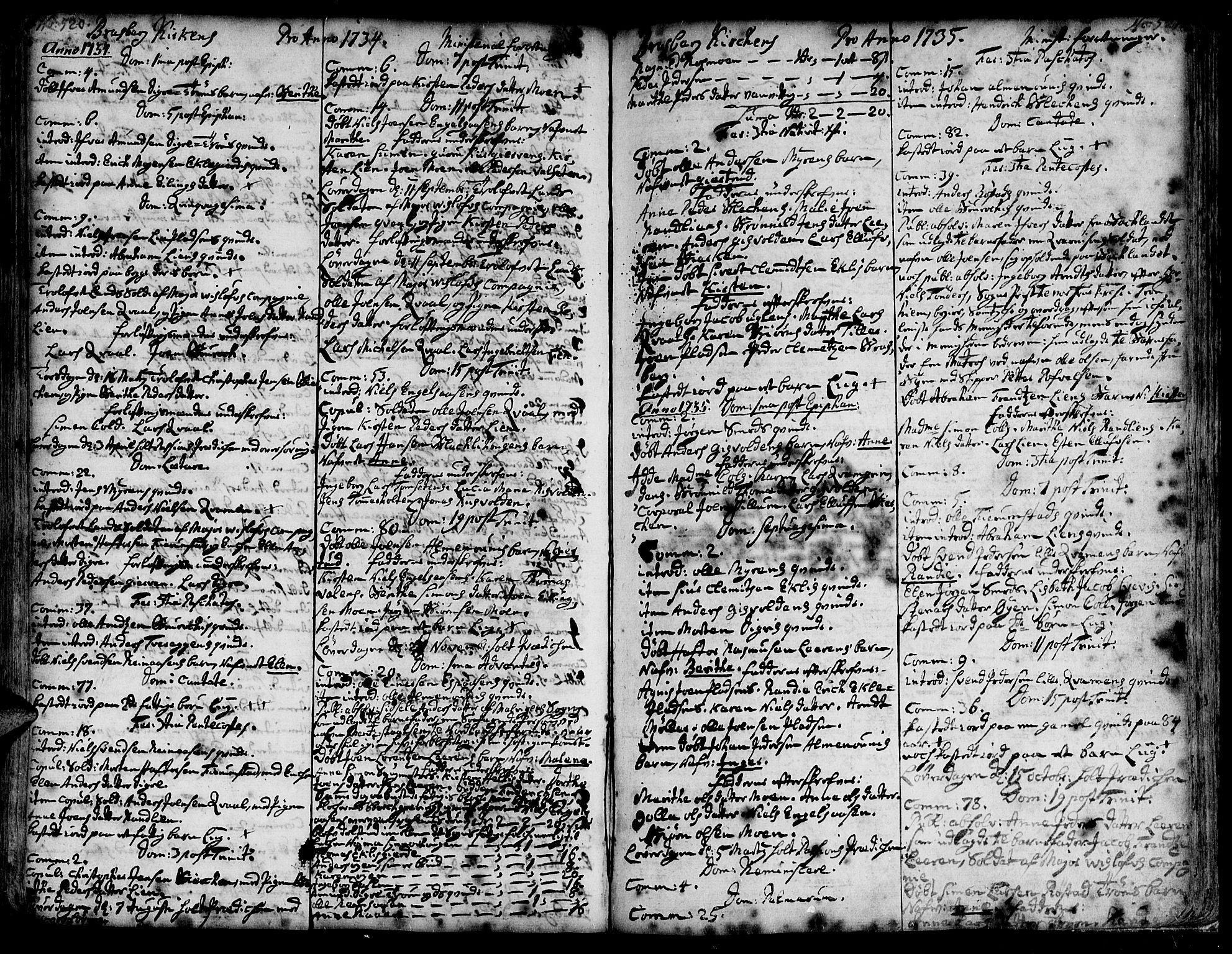 SAT, Ministerialprotokoller, klokkerbøker og fødselsregistre - Sør-Trøndelag, 606/L0278: Ministerialbok nr. 606A01 /4, 1727-1780, s. 520-521