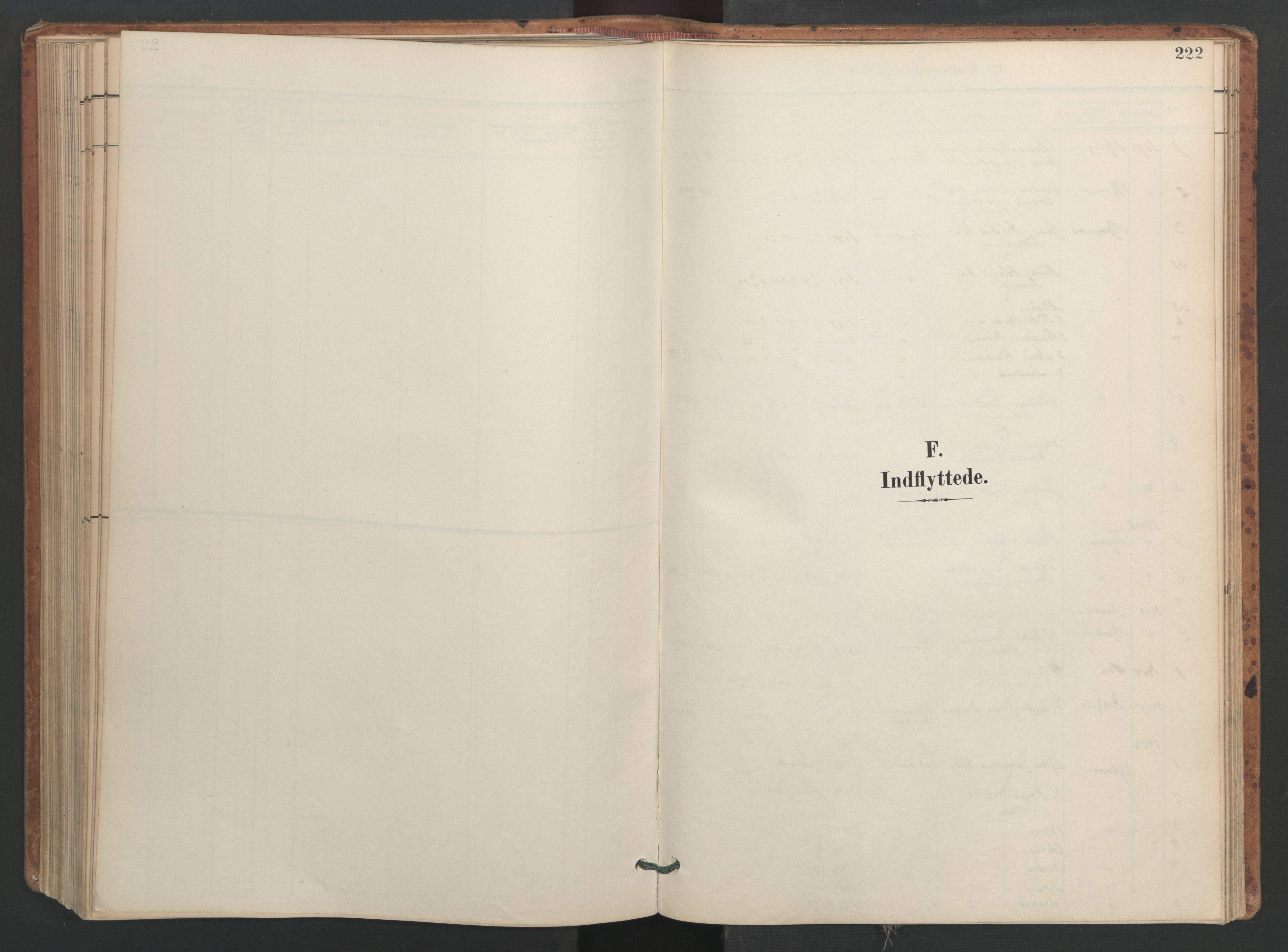 SAT, Ministerialprotokoller, klokkerbøker og fødselsregistre - Sør-Trøndelag, 655/L0681: Ministerialbok nr. 655A10, 1895-1907, s. 222