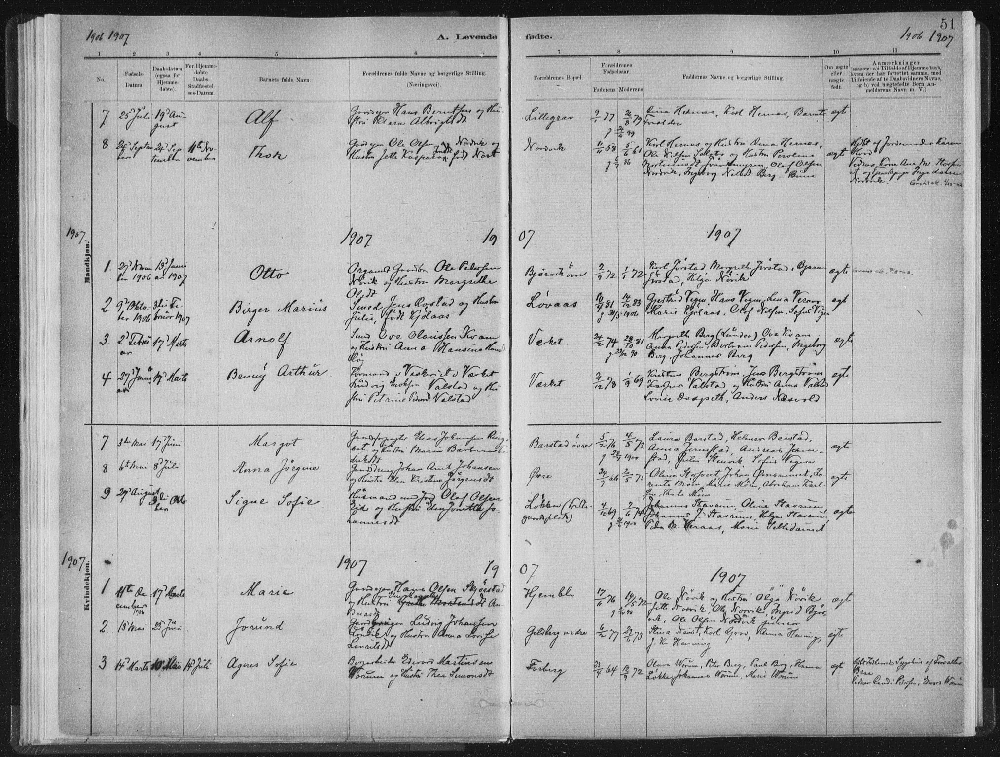 SAT, Ministerialprotokoller, klokkerbøker og fødselsregistre - Nord-Trøndelag, 722/L0220: Ministerialbok nr. 722A07, 1881-1908, s. 51
