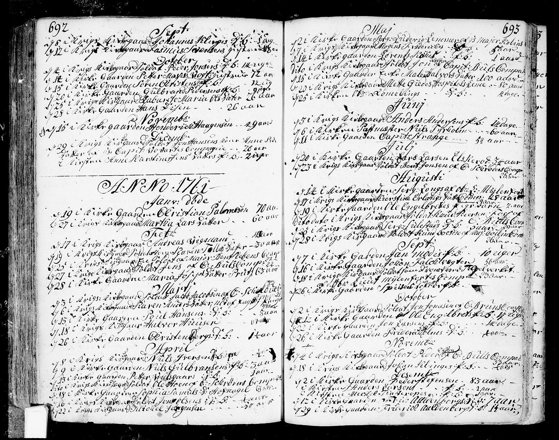 SAO, Fredrikstad prestekontor Kirkebøker, F/Fa/L0002: Ministerialbok nr. 2, 1750-1804, s. 692-693