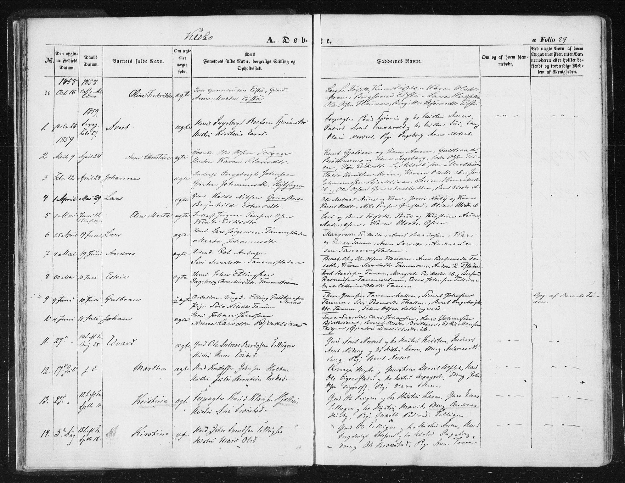 SAT, Ministerialprotokoller, klokkerbøker og fødselsregistre - Sør-Trøndelag, 618/L0441: Ministerialbok nr. 618A05, 1843-1862, s. 29